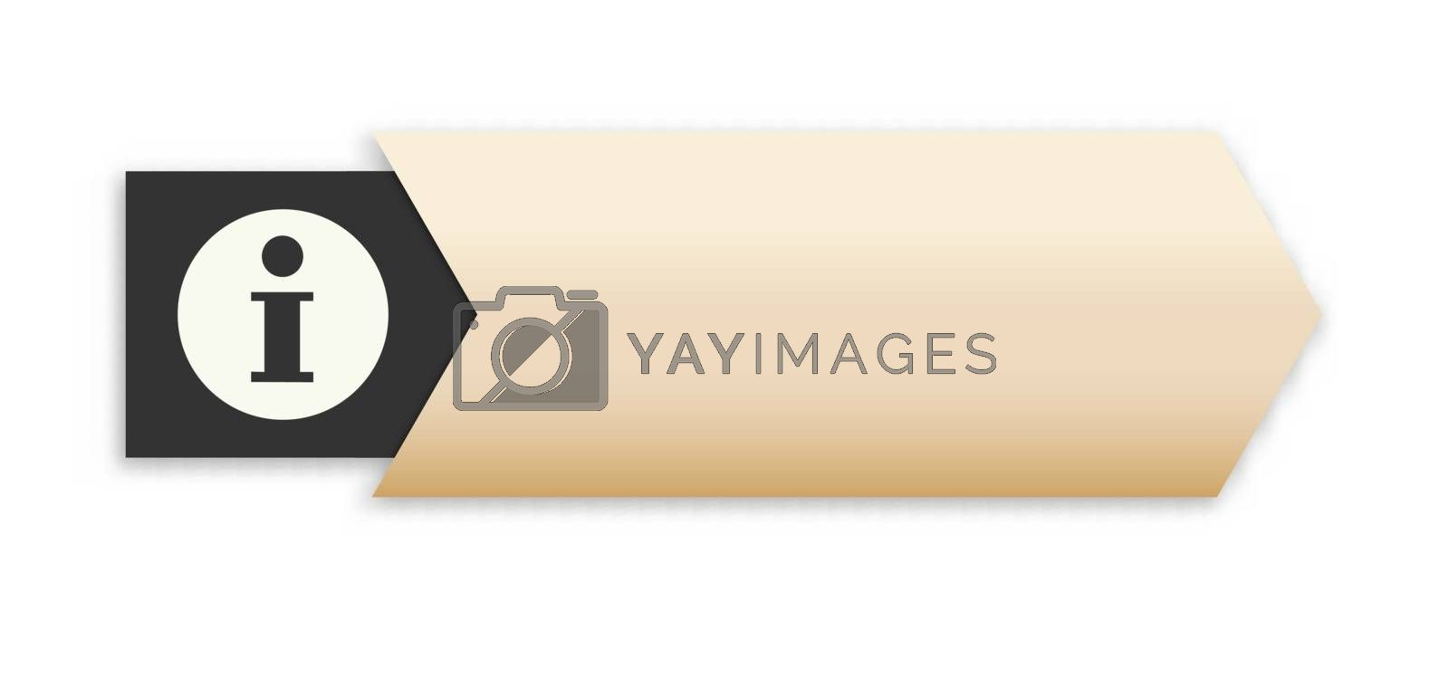 Royalty free image of the arrow with info icon by madtom