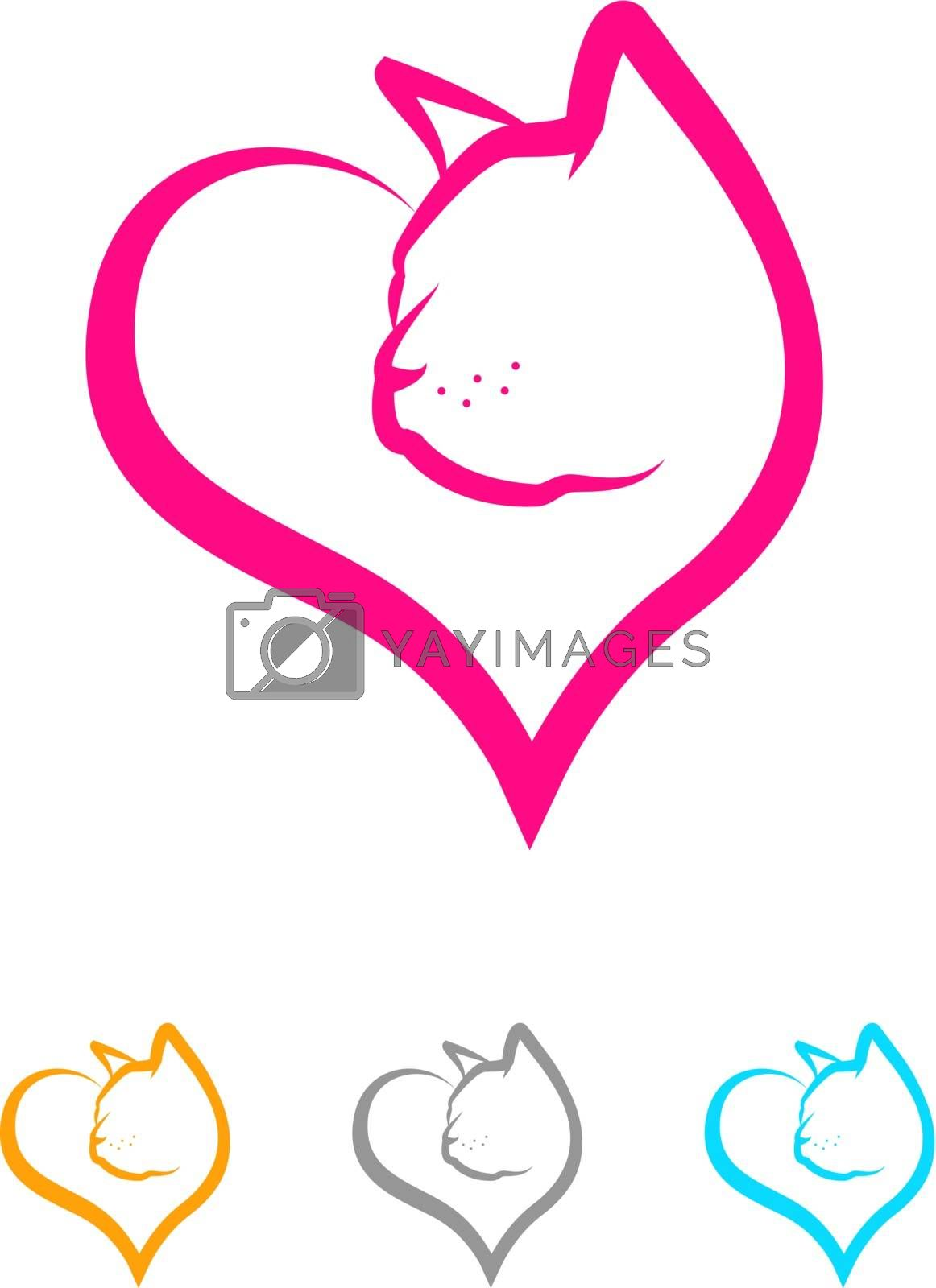 Royalty free image of Cat Heart by graphicgeoff