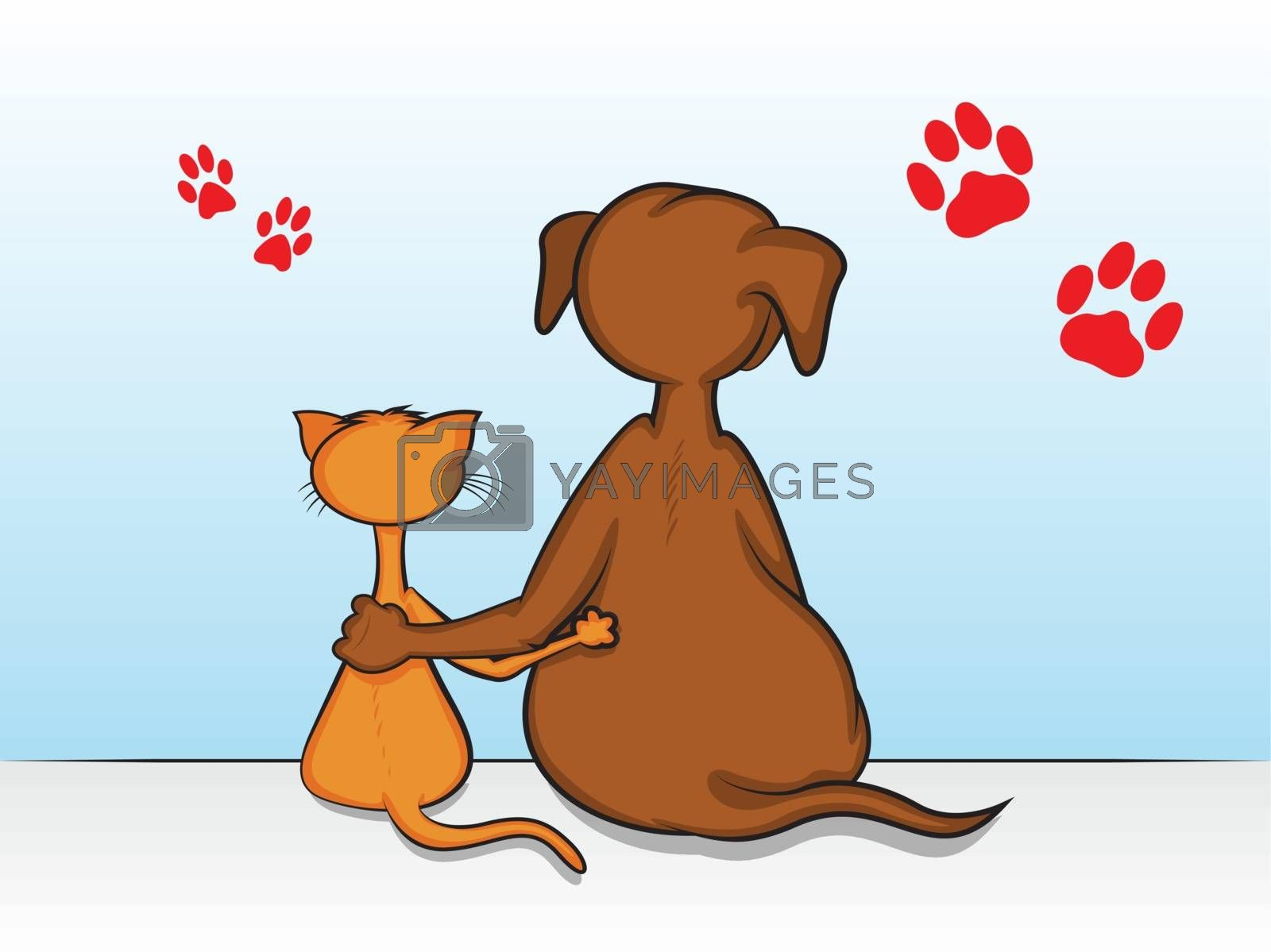 Royalty free image of Pet Friendship by graphicgeoff