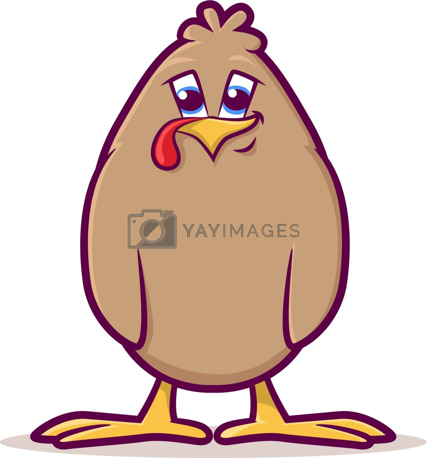Royalty free image of Baby Fowl Cartoon by graphicgeoff