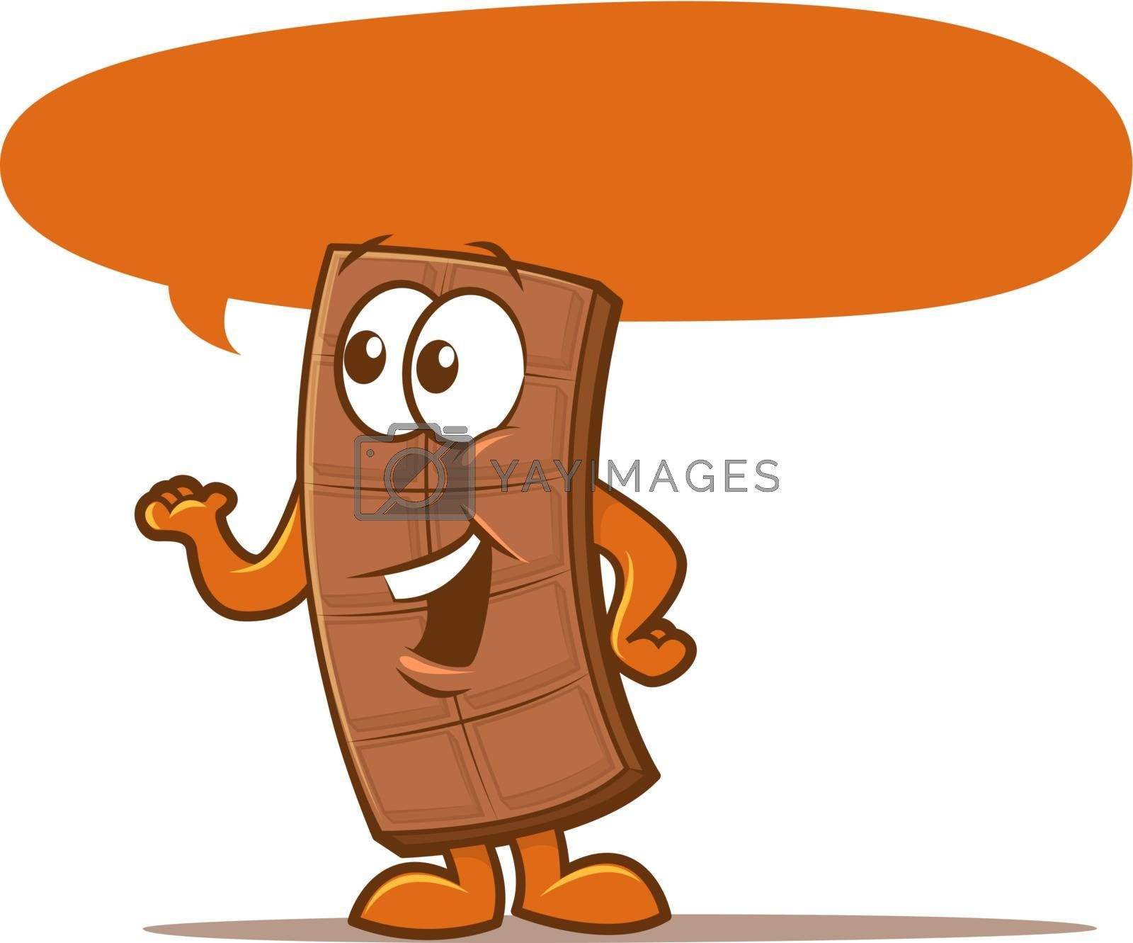 Royalty free image of Chocolate Bar Character by graphicgeoff
