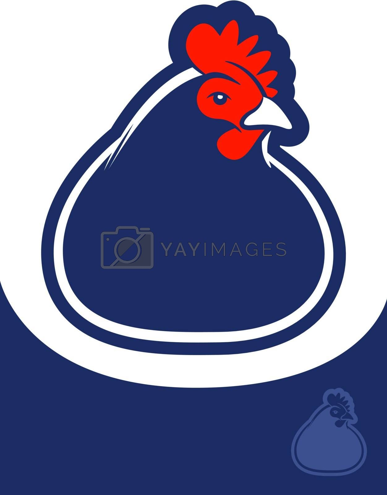 Royalty free image of Chicken Icon by graphicgeoff