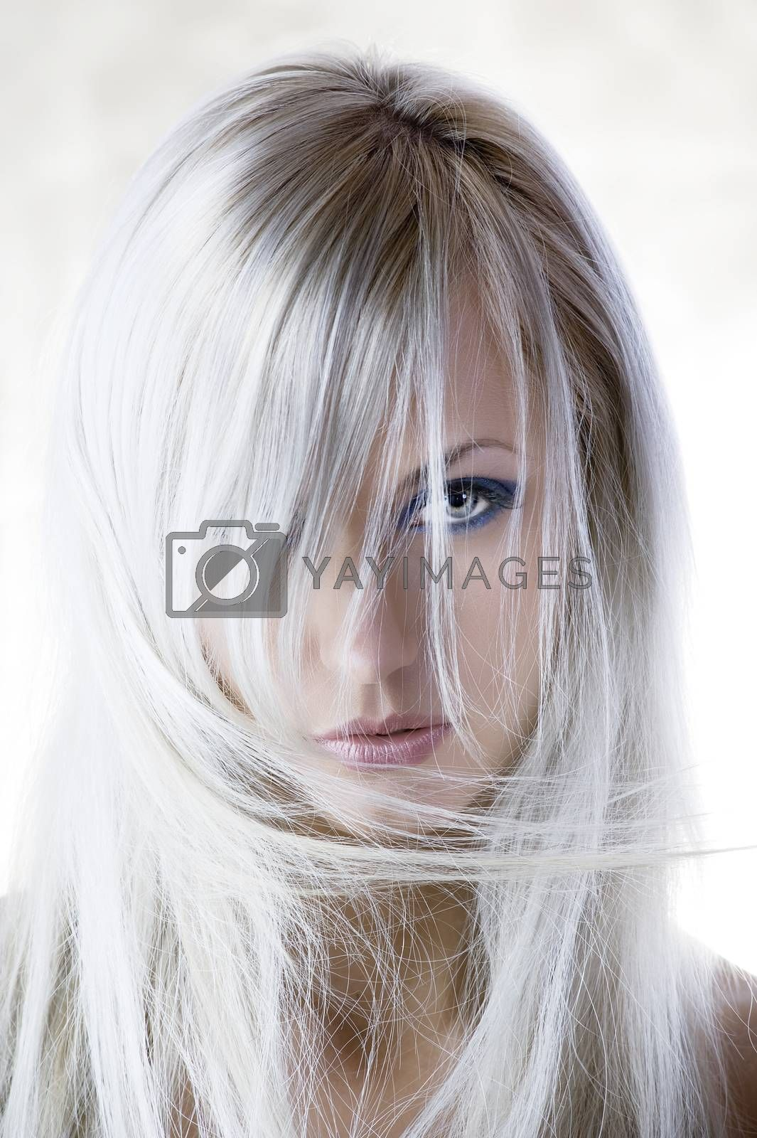 Royalty free image of between the hair by fotoCD