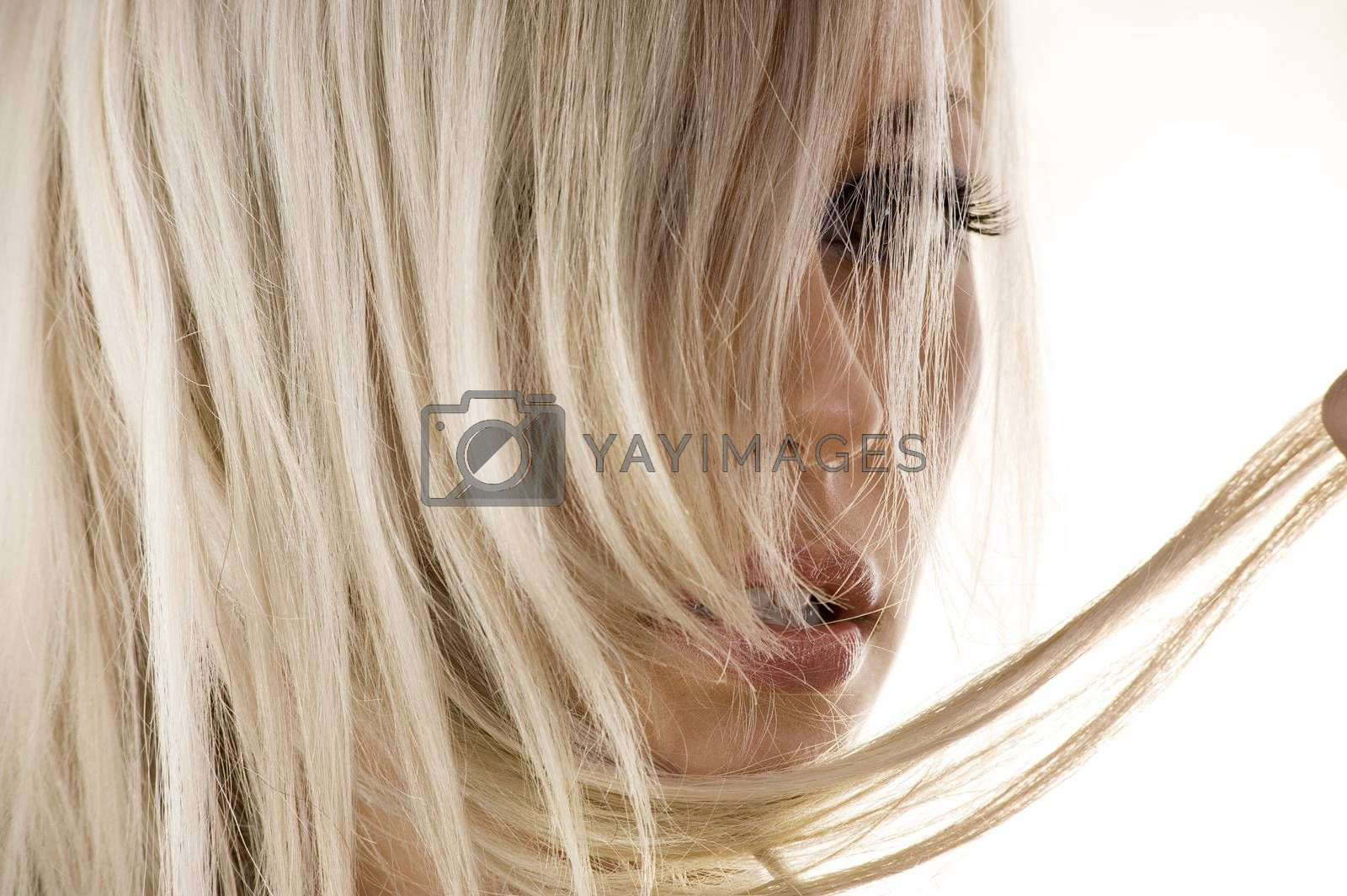 Royalty free image of blond hair by fotoCD