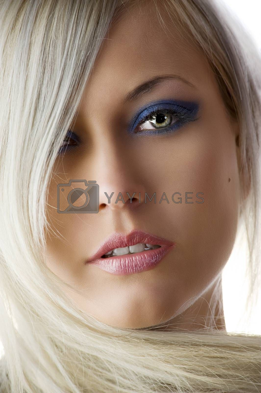 Royalty free image of blond woman portrait by fotoCD
