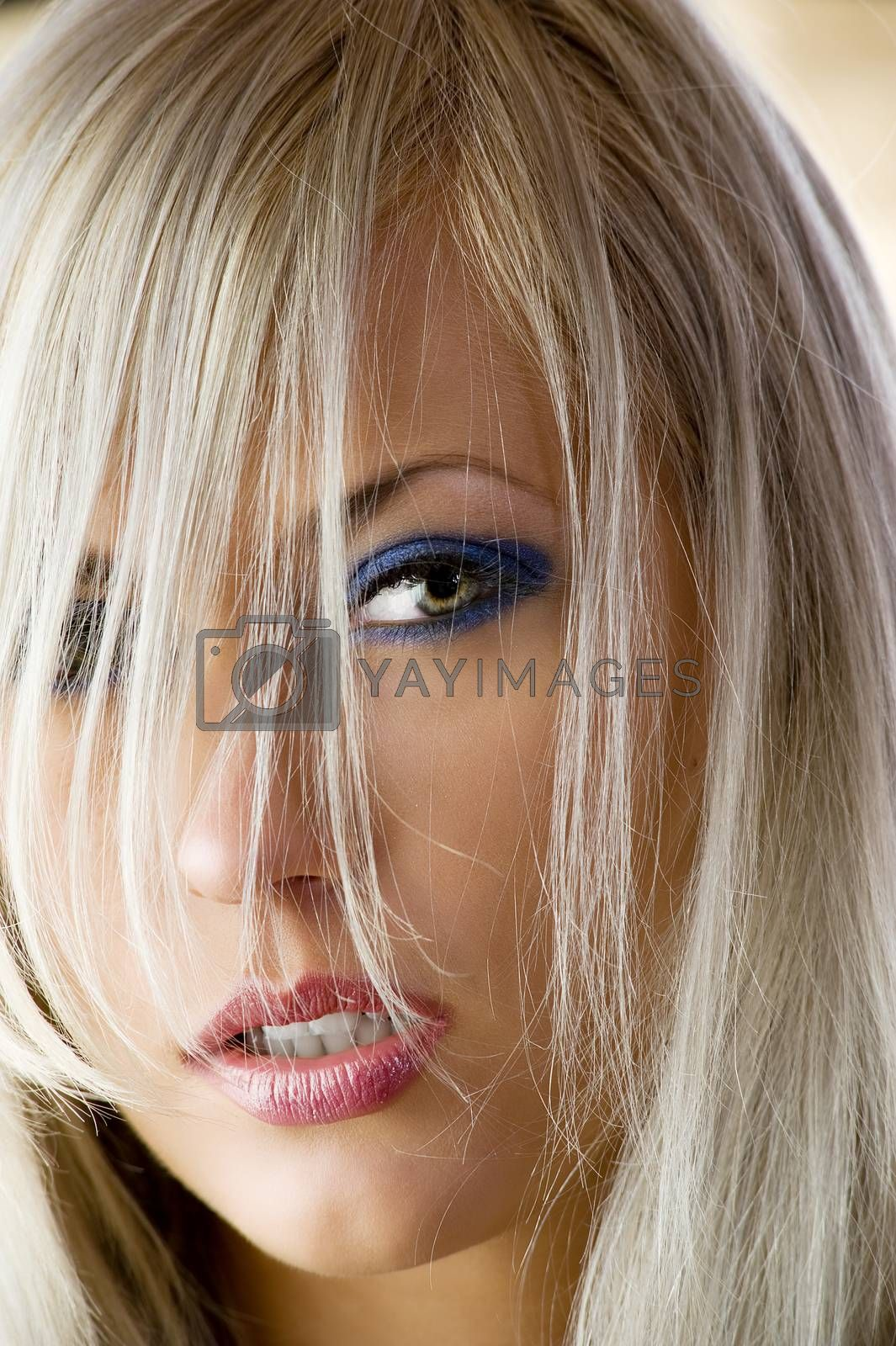 Royalty free image of the hair and eye by fotoCD