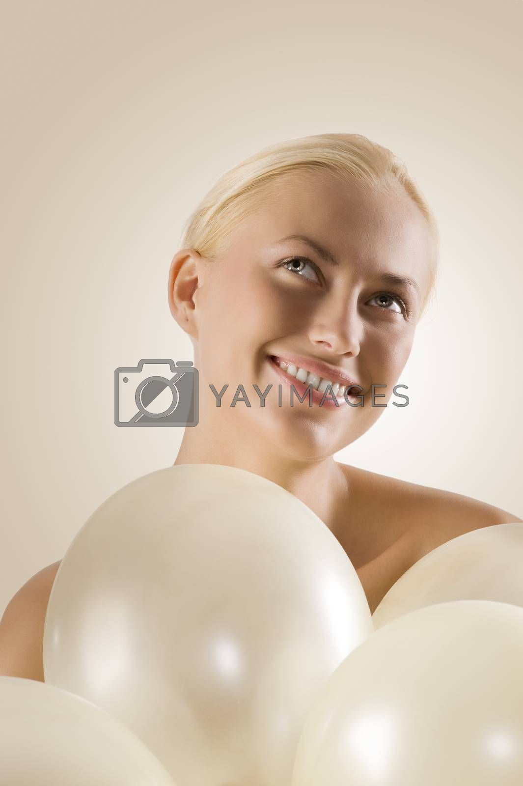 Royalty free image of girl looking up by fotoCD