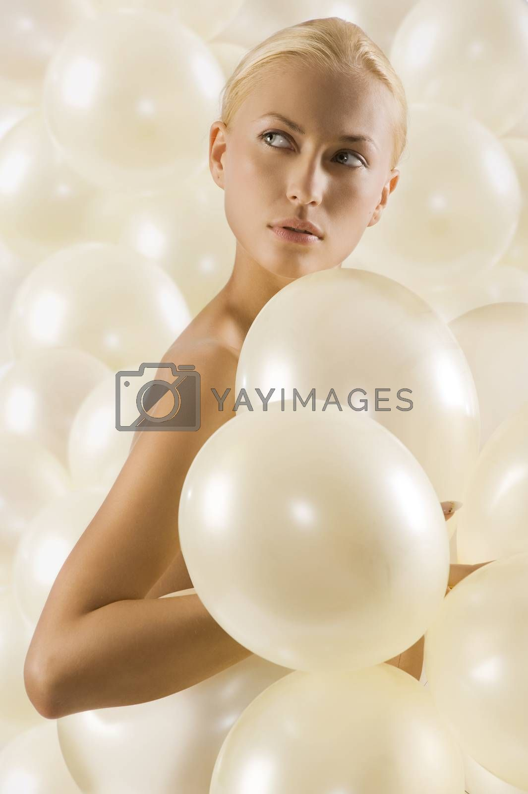 Royalty free image of portrait with balloons by fotoCD