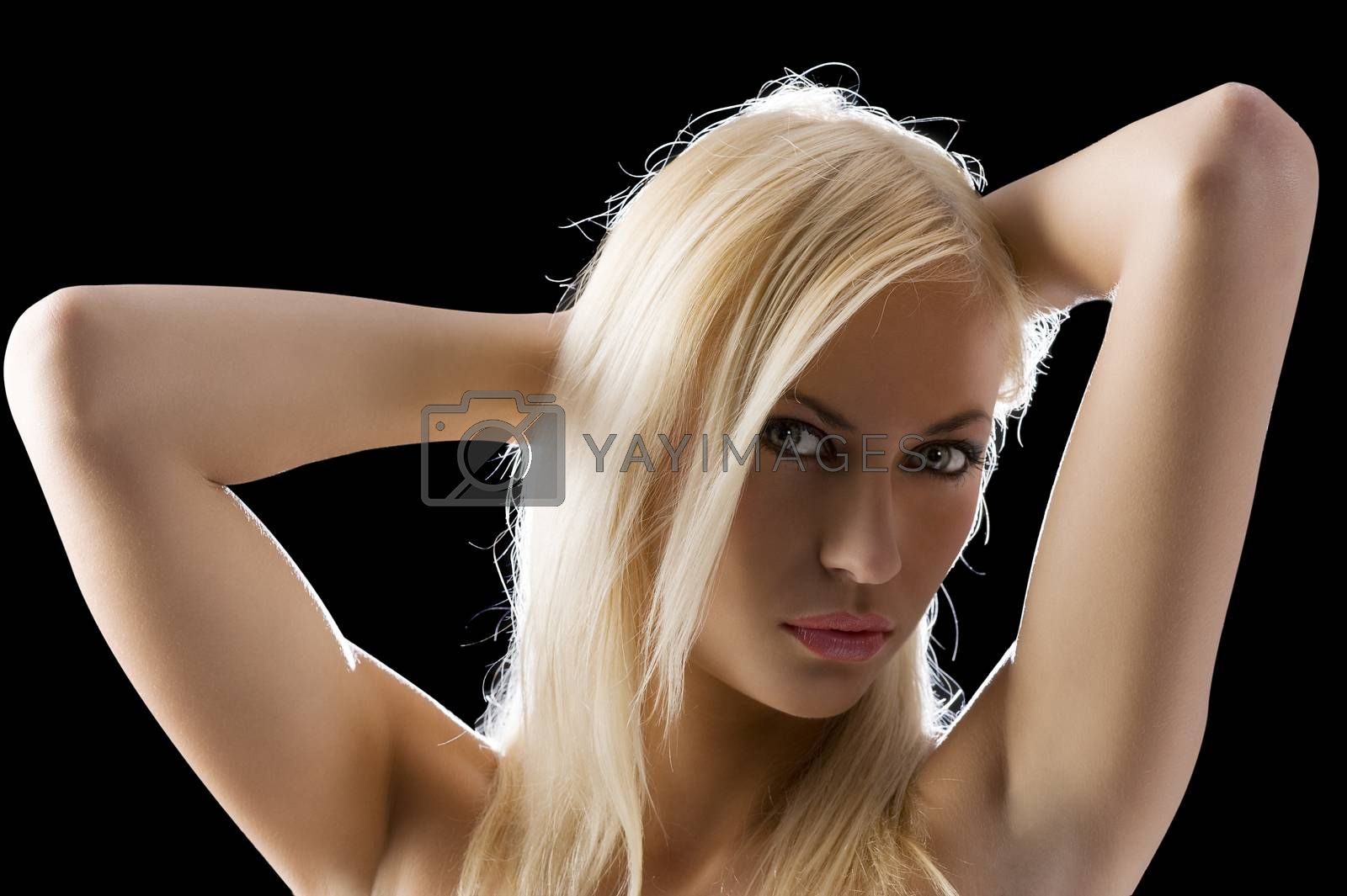 Royalty free image of blond sexy woman by fotoCD