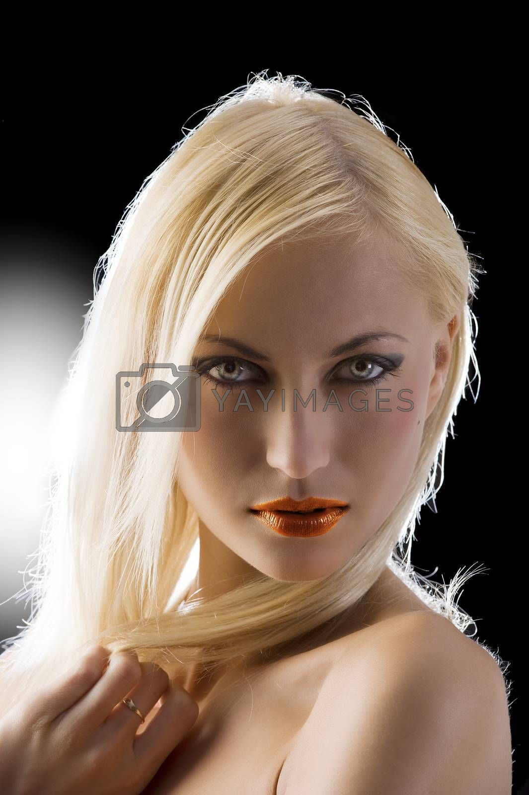 Royalty free image of blond with blue eyes by fotoCD