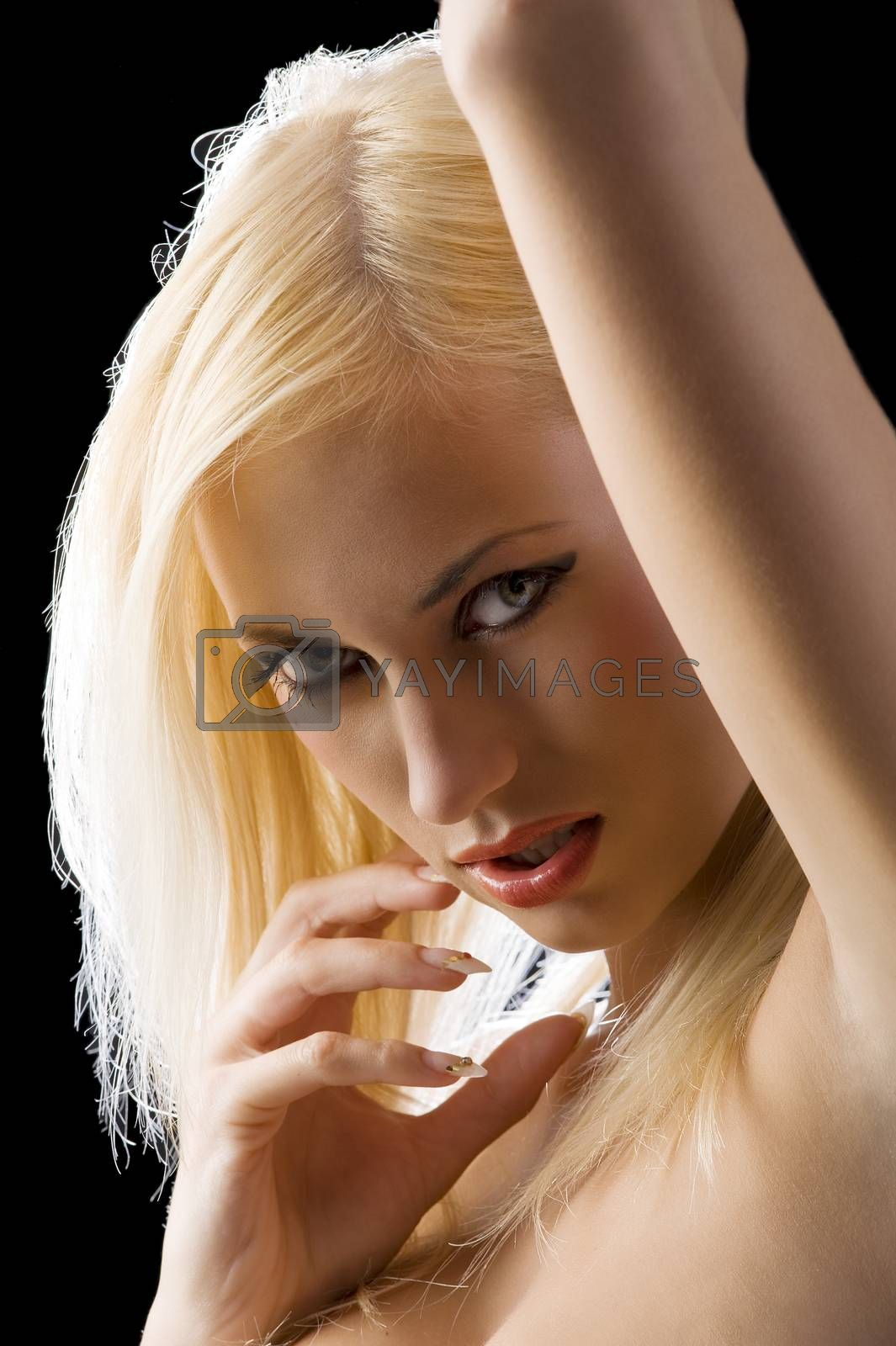 Royalty free image of blond sexy girl  by fotoCD
