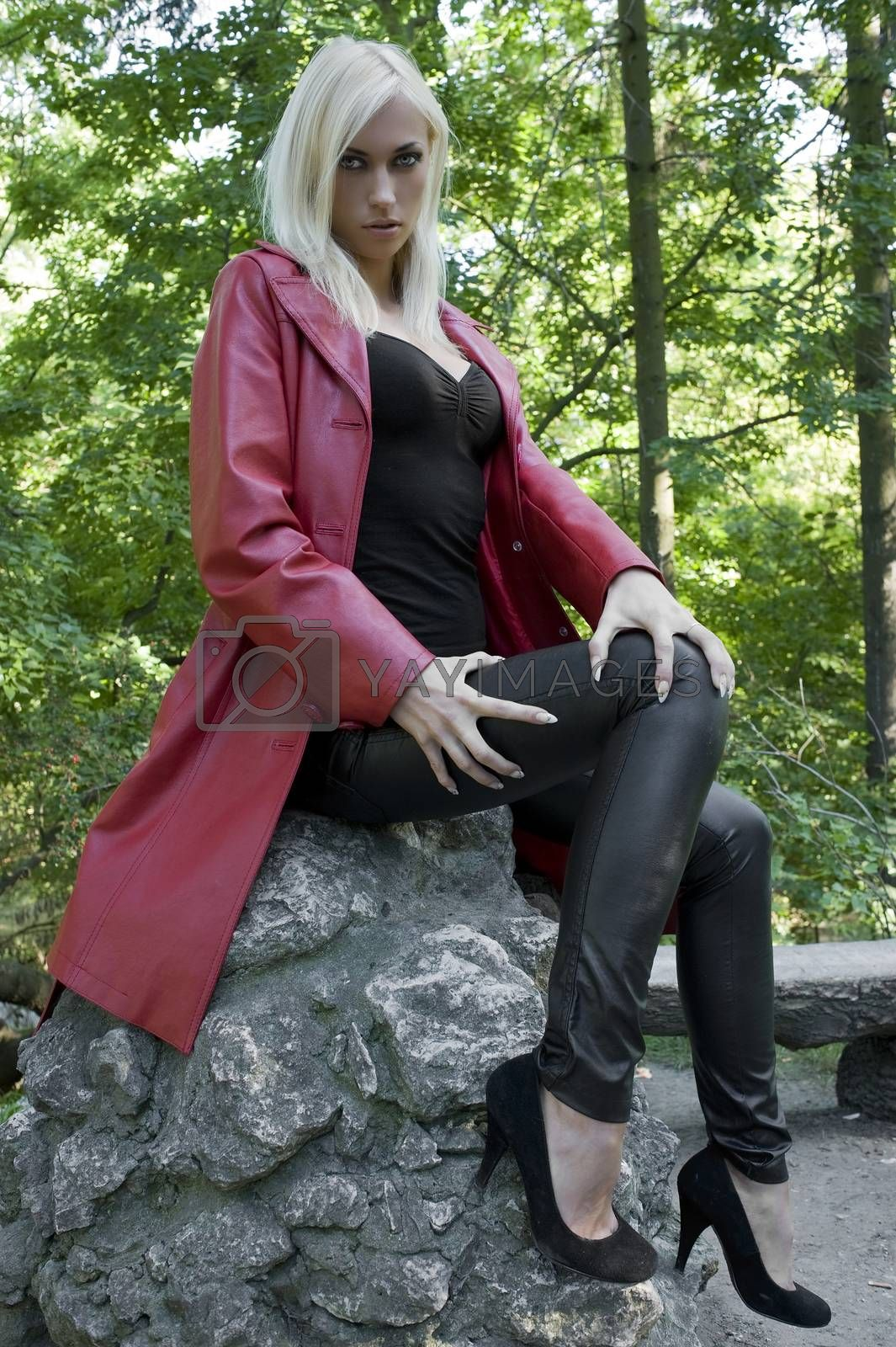 Royalty free image of sensual girl outdoor in park by fotoCD