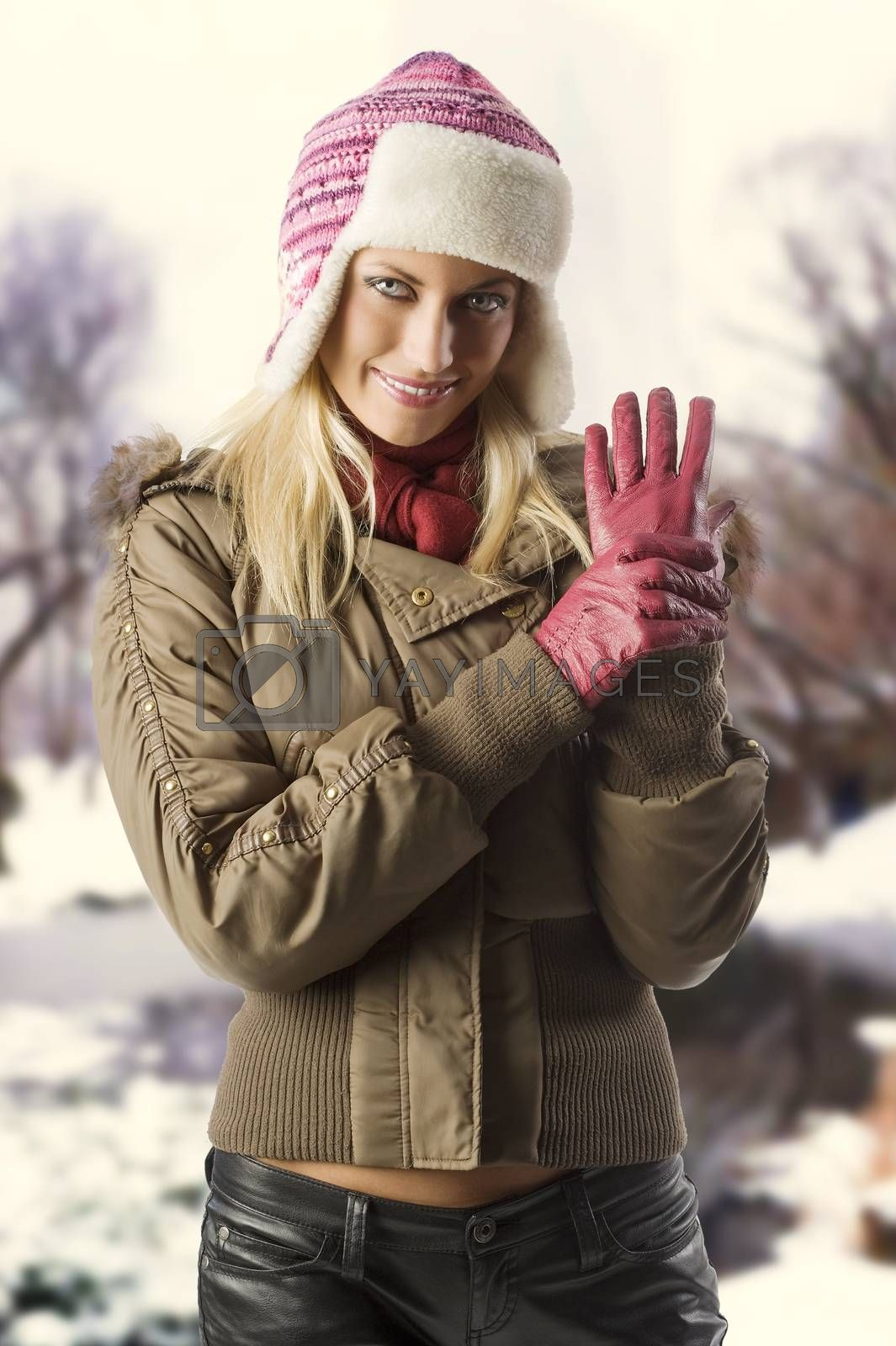 Royalty free image of girl ready for winter by fotoCD