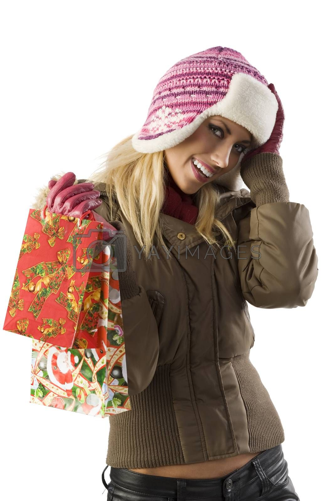 Royalty free image of christmas shopping by fotoCD
