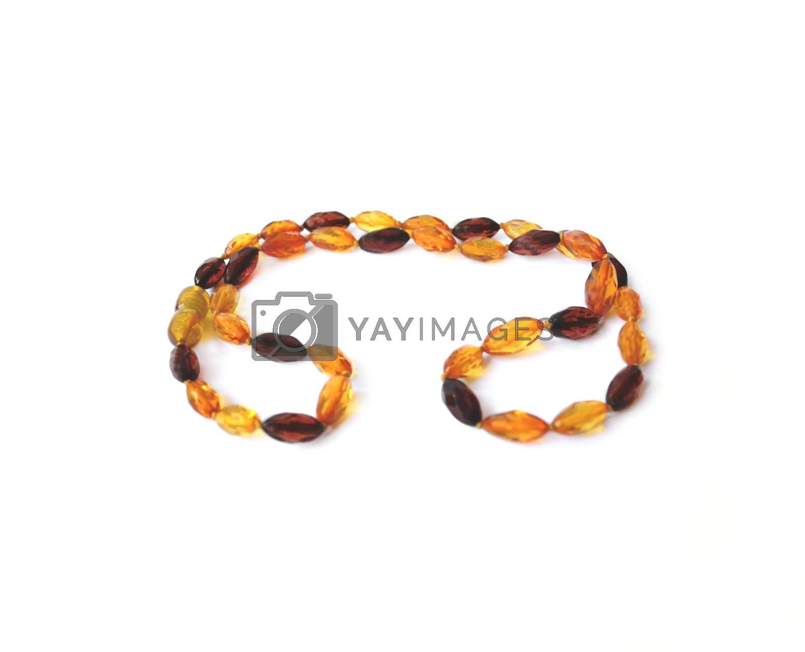 Royalty free image of Amber necklace by NataliaL