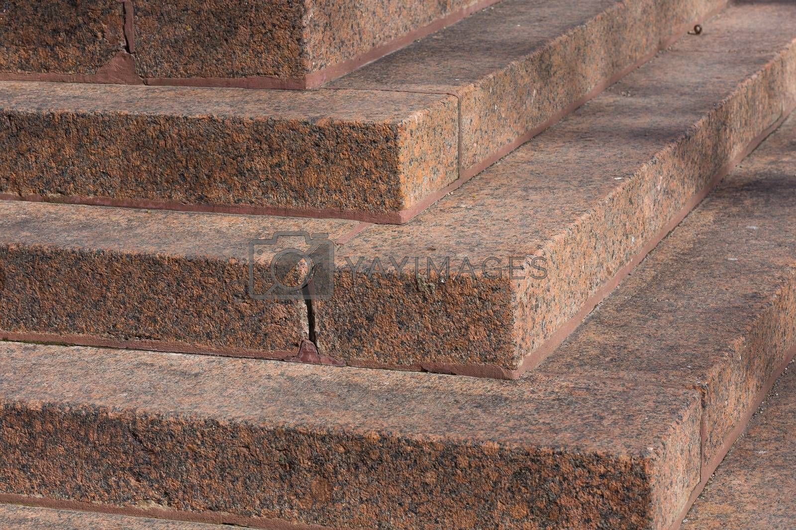 Royalty free image of Stairs made of red granite by RTsubin