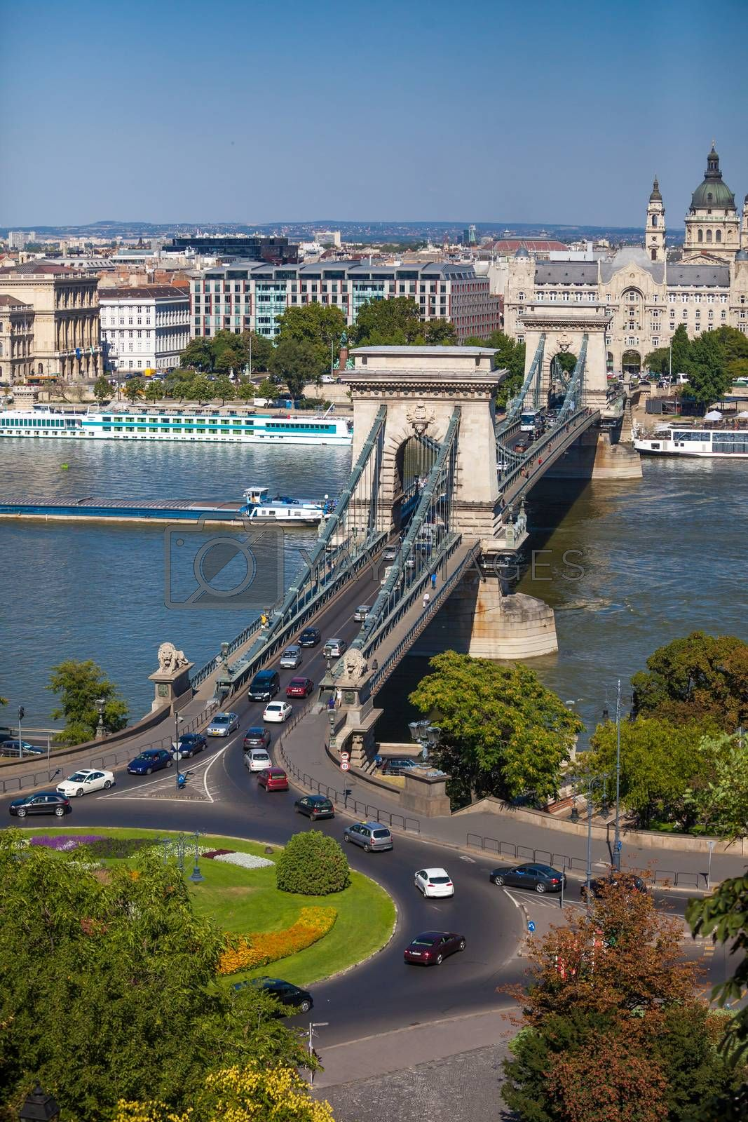 Royalty free image of View of Szechenyi Chain Bridge on August 2, 2013 in Budapest by PixAchi