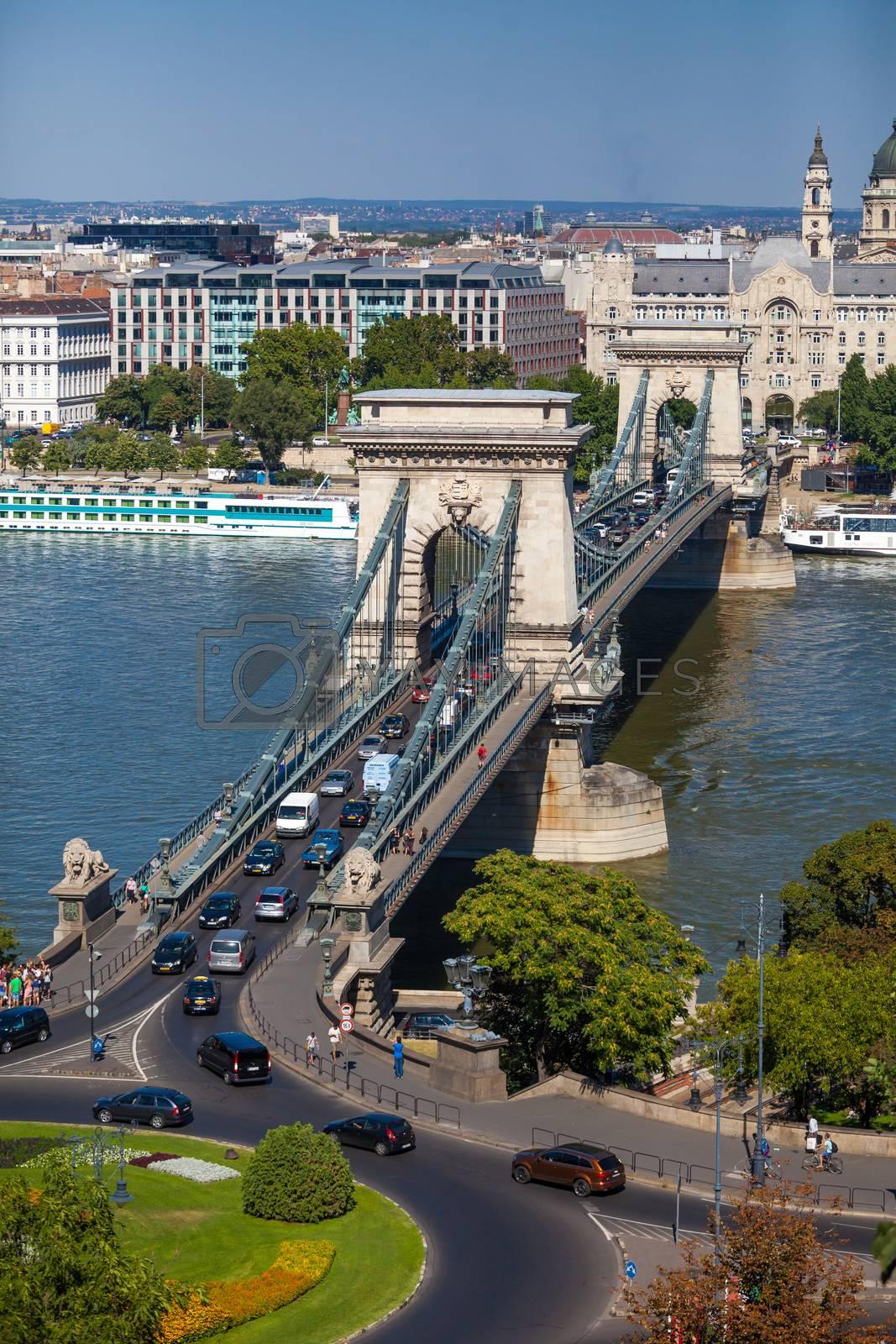 Royalty free image of Szechenyi Chain Bridge, Budapest, Hungary by PixAchi