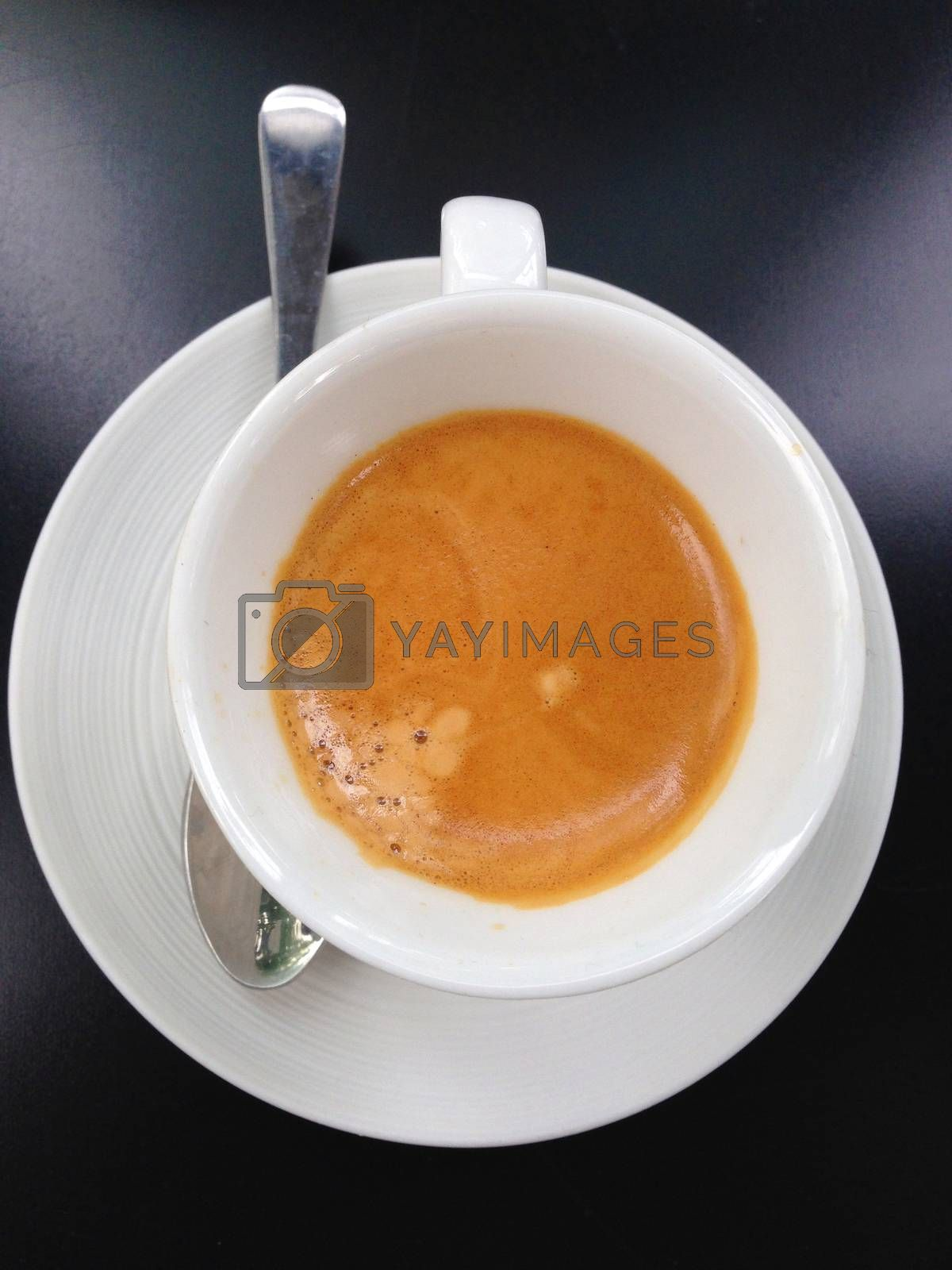 Royalty free image of a cup of coffee, the espresso short by pandara