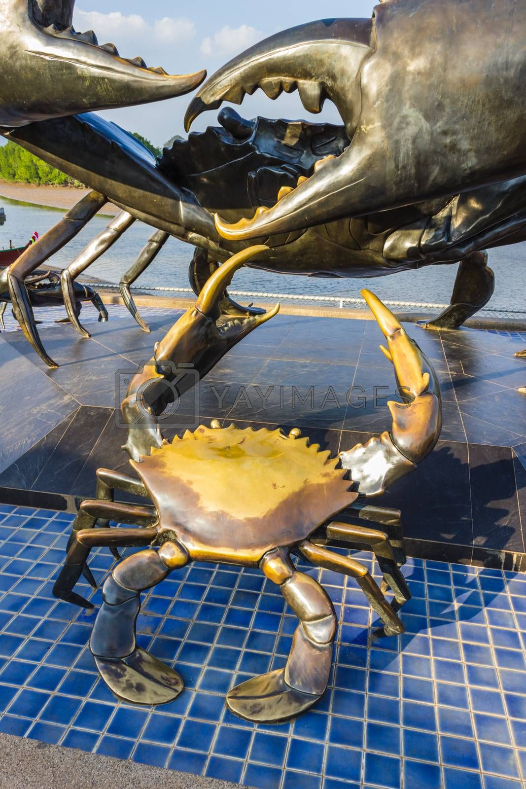 Royalty free image of statue of crabs in Krabi Thailand by oleg_zhukov