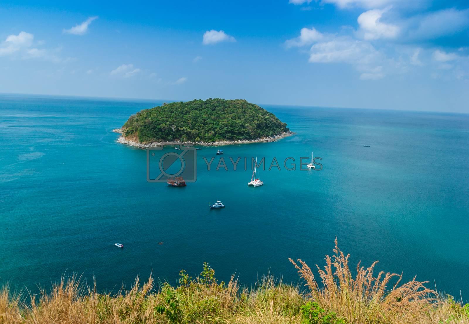 Royalty free image of Small island in the sea near Phuket by oleg_zhukov