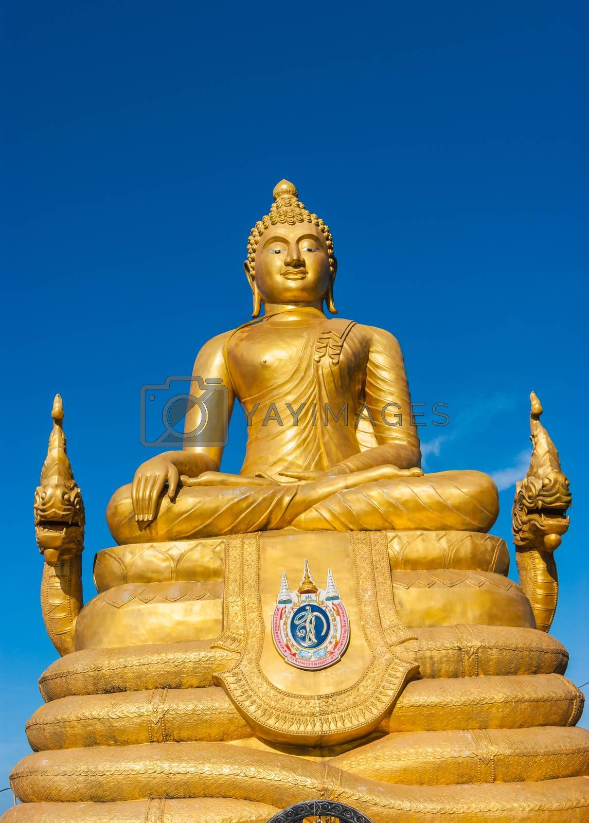 Royalty free image of 12 meters high Big Buddha Image, made of 22 tons of brass in Phu by oleg_zhukov