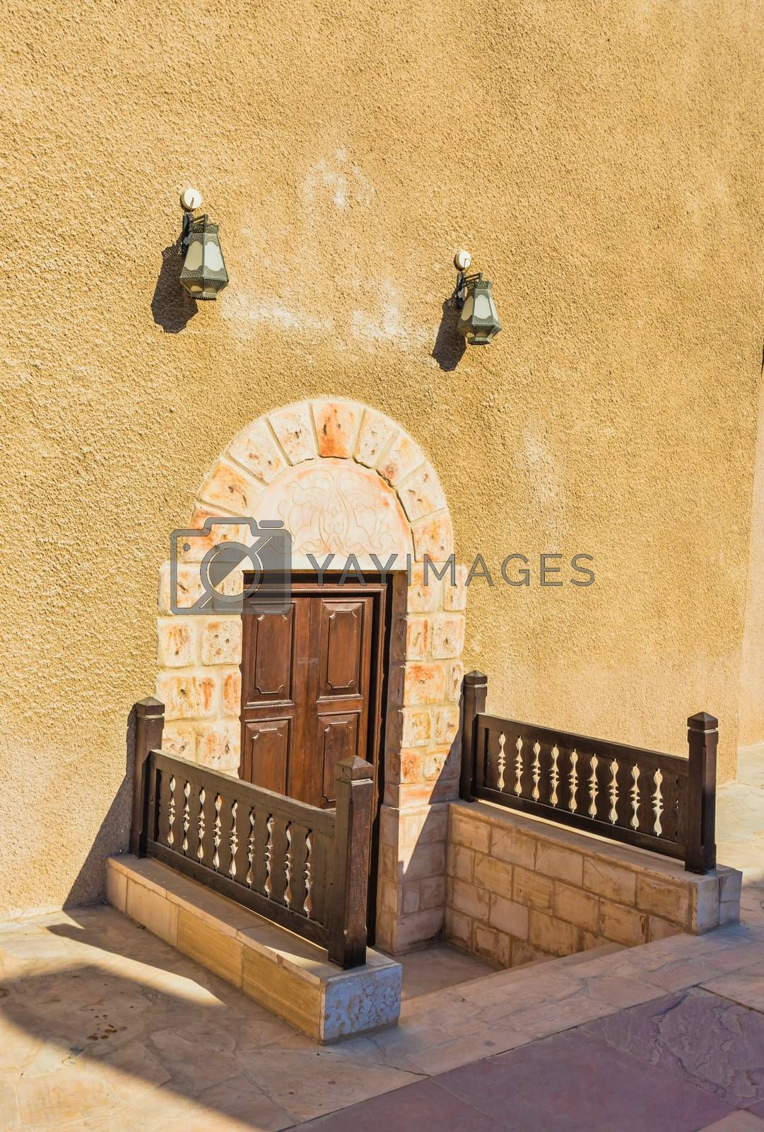 Royalty free image of old lock on a wooden door by oleg_zhukov