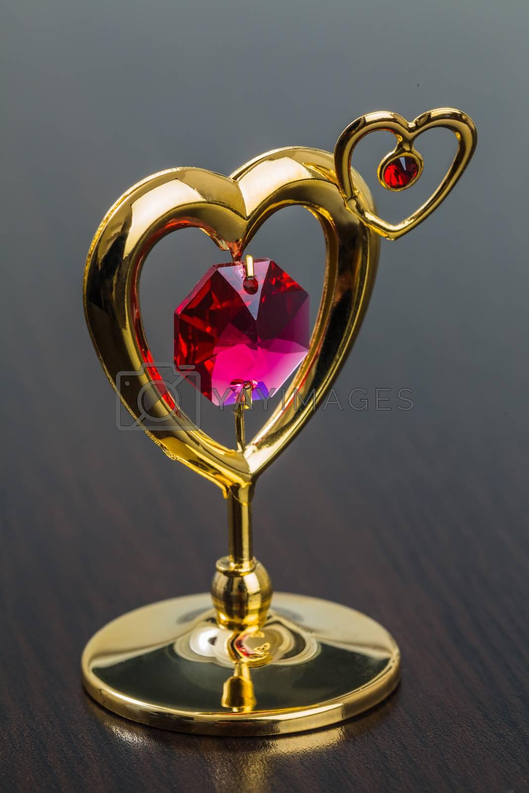 Royalty free image of Valentine's Day Golden Heart by oleg_zhukov