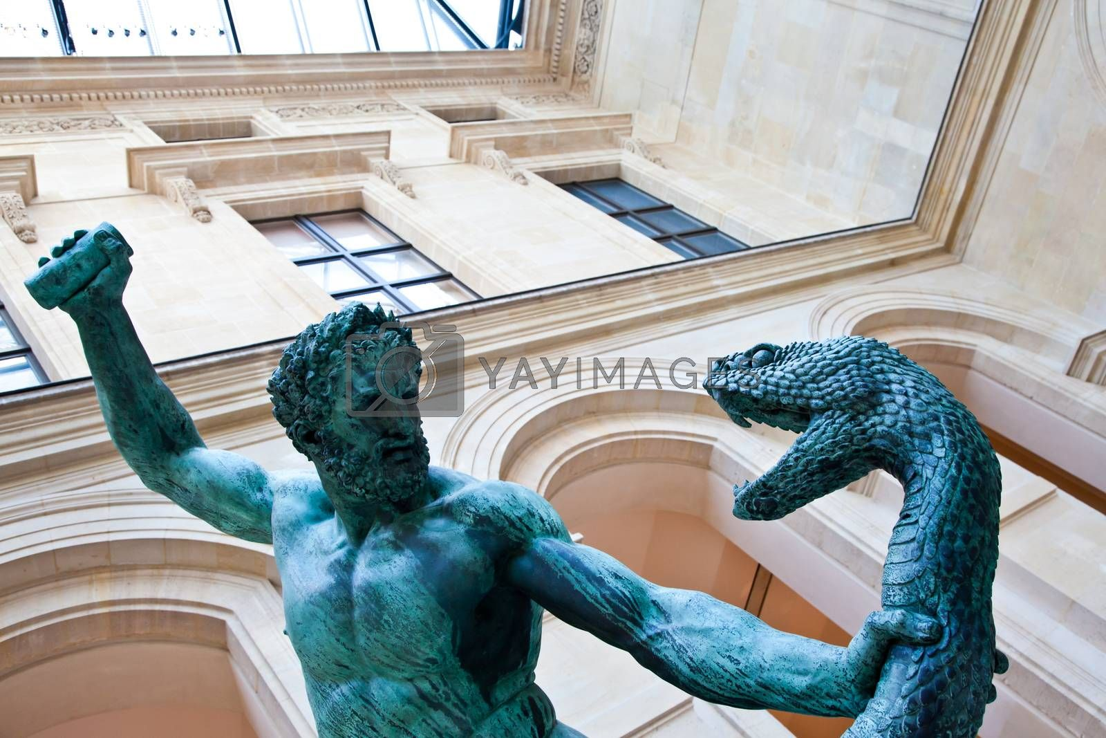 Royalty free image of Fight with the snake by Perseomedusa