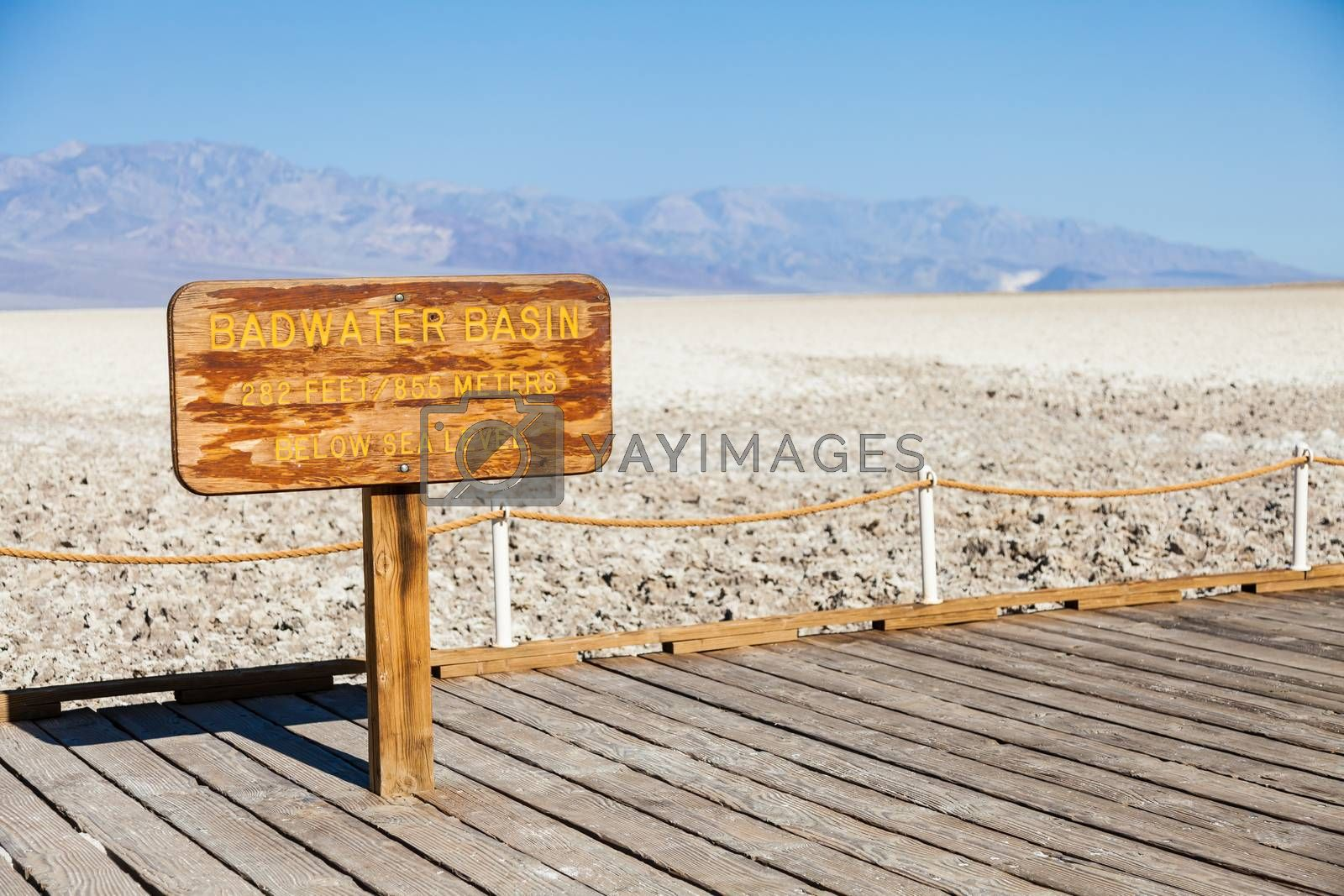Royalty free image of Badwater point by Perseomedusa