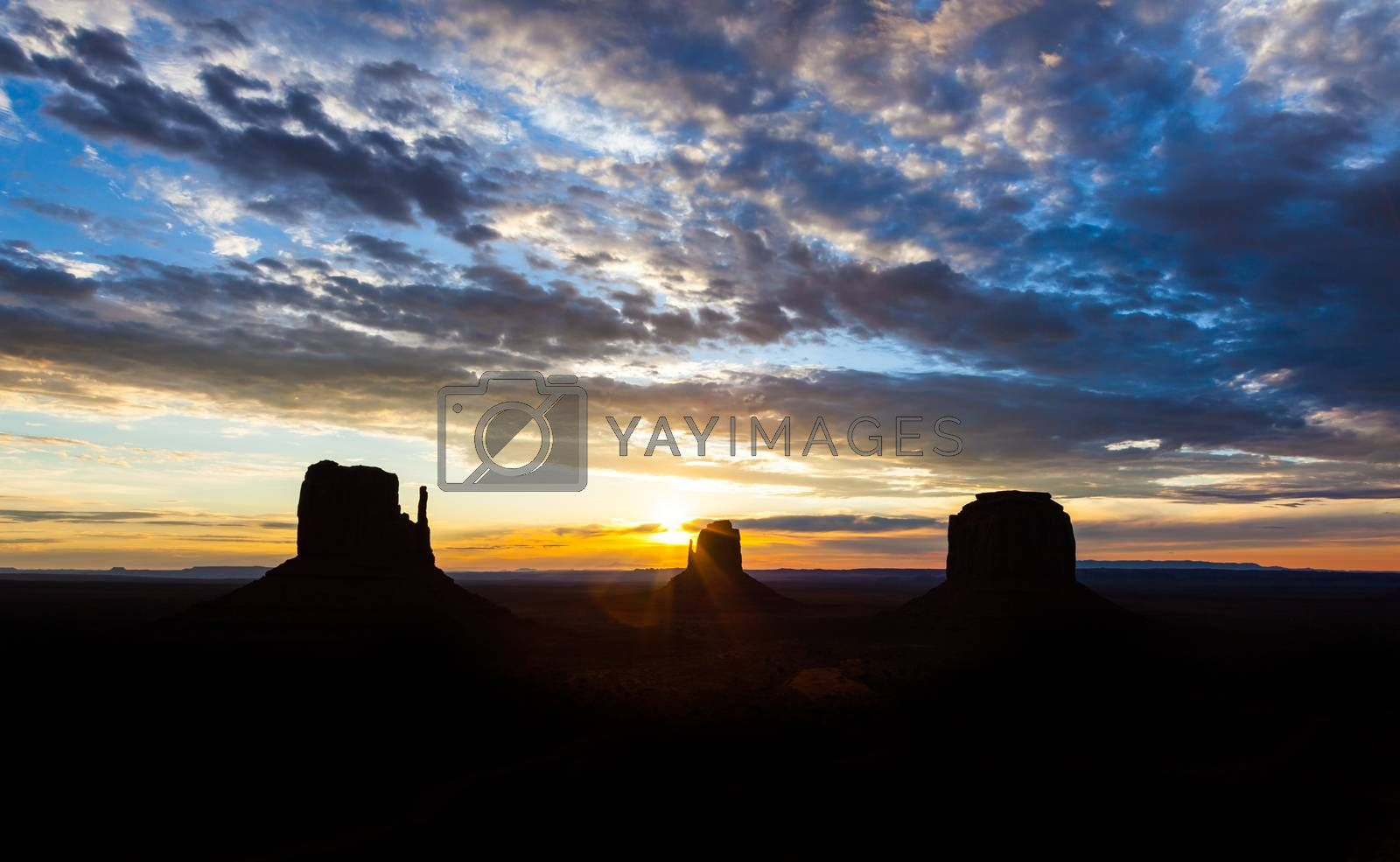 Royalty free image of Monument Valley Sunrise by Perseomedusa