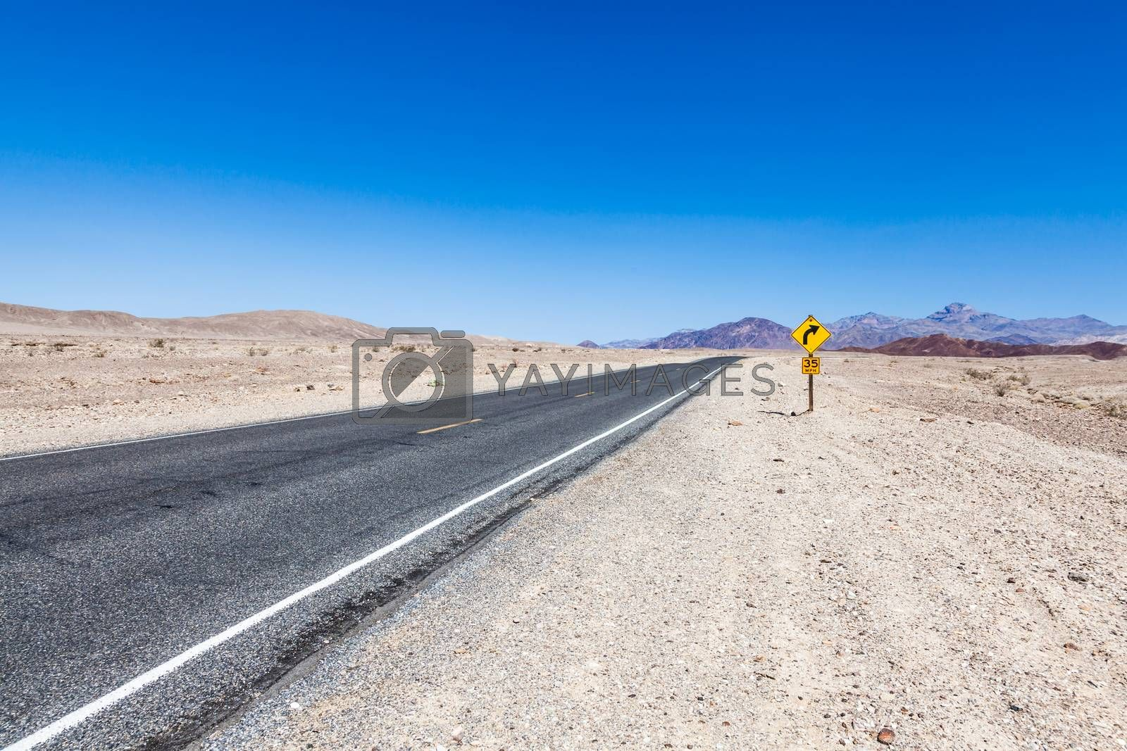 Royalty free image of Road in the desert by Perseomedusa