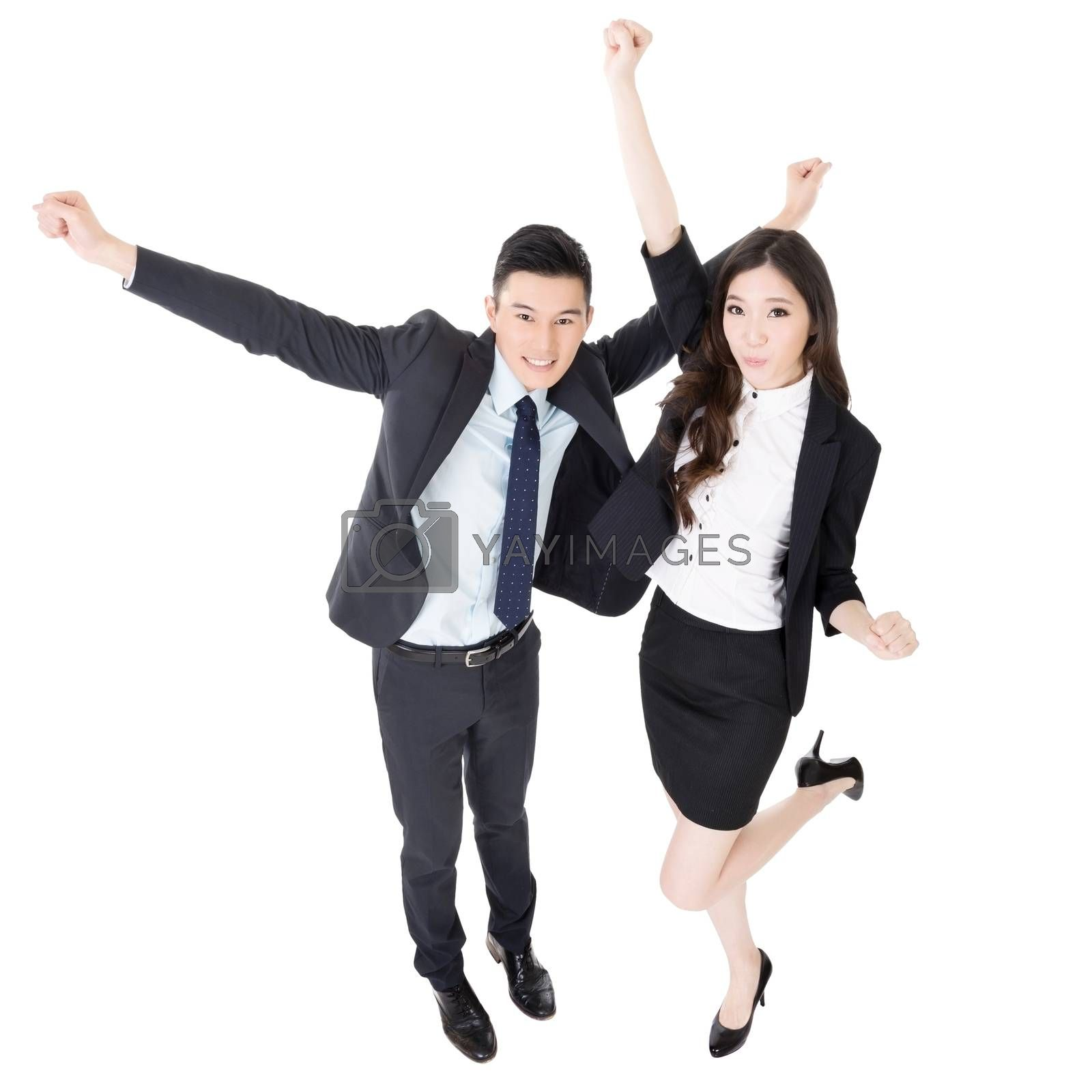 Royalty free image of Exciting business man and woman by elwynn