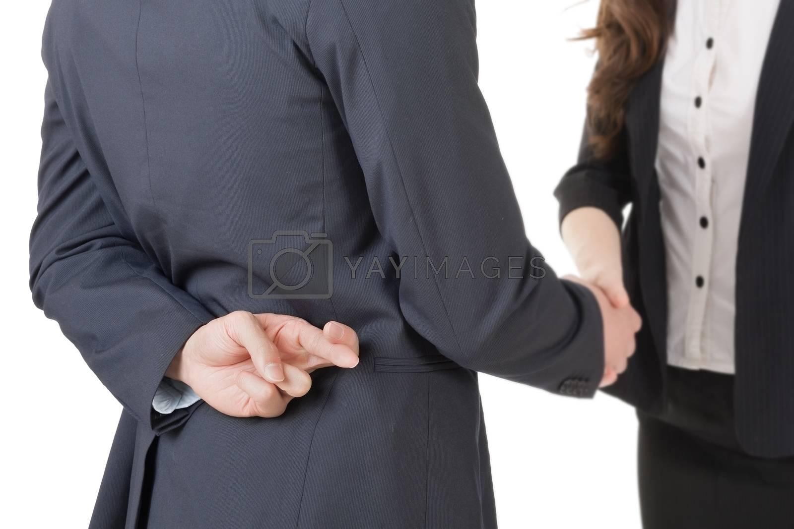 Royalty free image of fake hand shake by elwynn