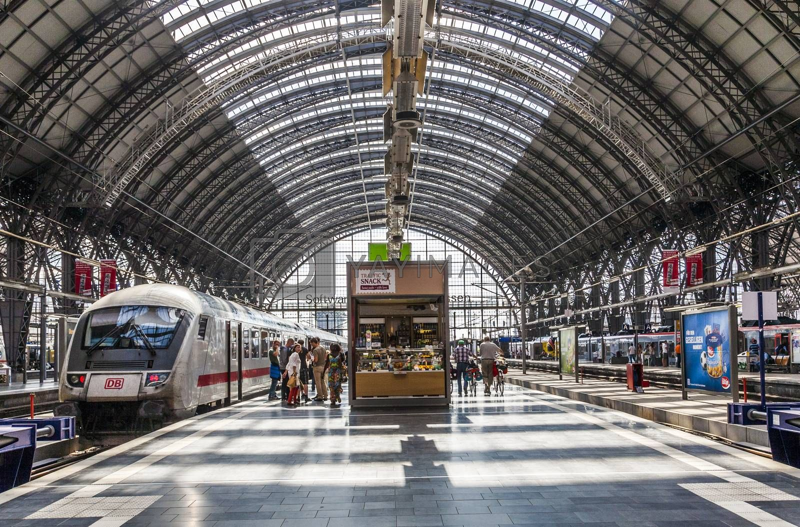 Royalty free image of  Inside the Frankfurt central station by meinzahn