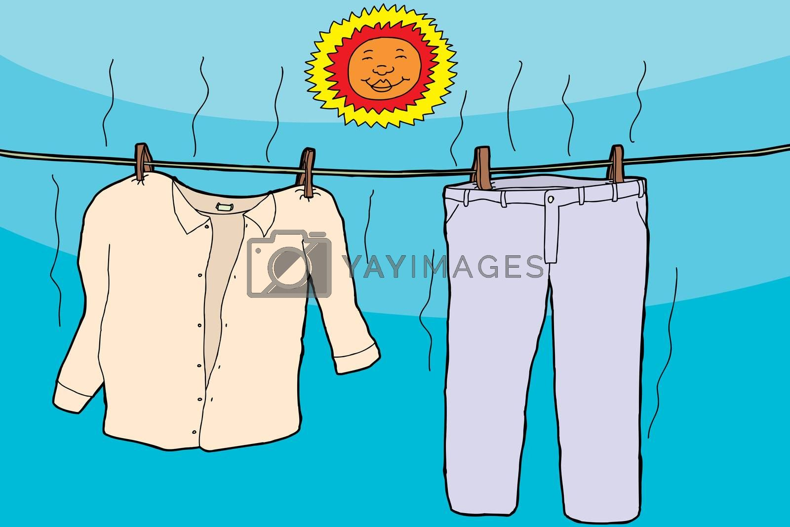Royalty free image of Clothes Drying in Sun by TheBlackRhino