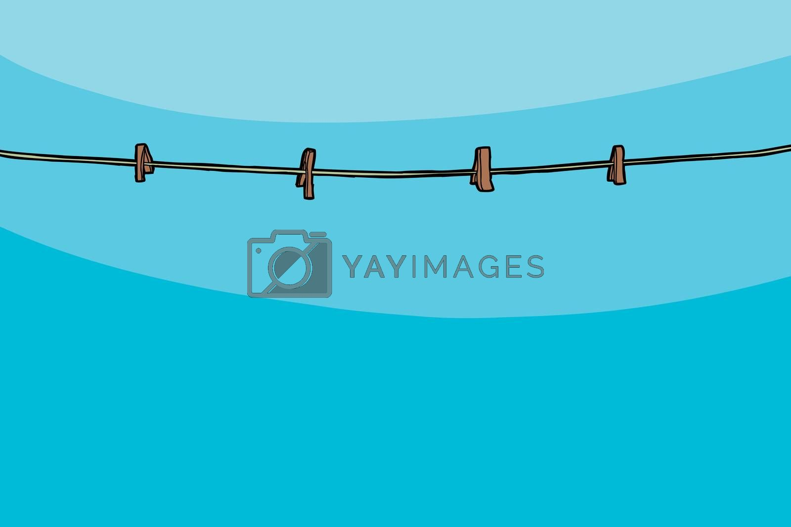 Royalty free image of Empty Clothesline by TheBlackRhino