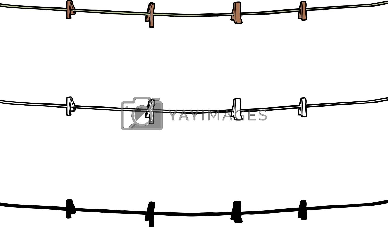 Royalty free image of Isolated Clothesline  by TheBlackRhino