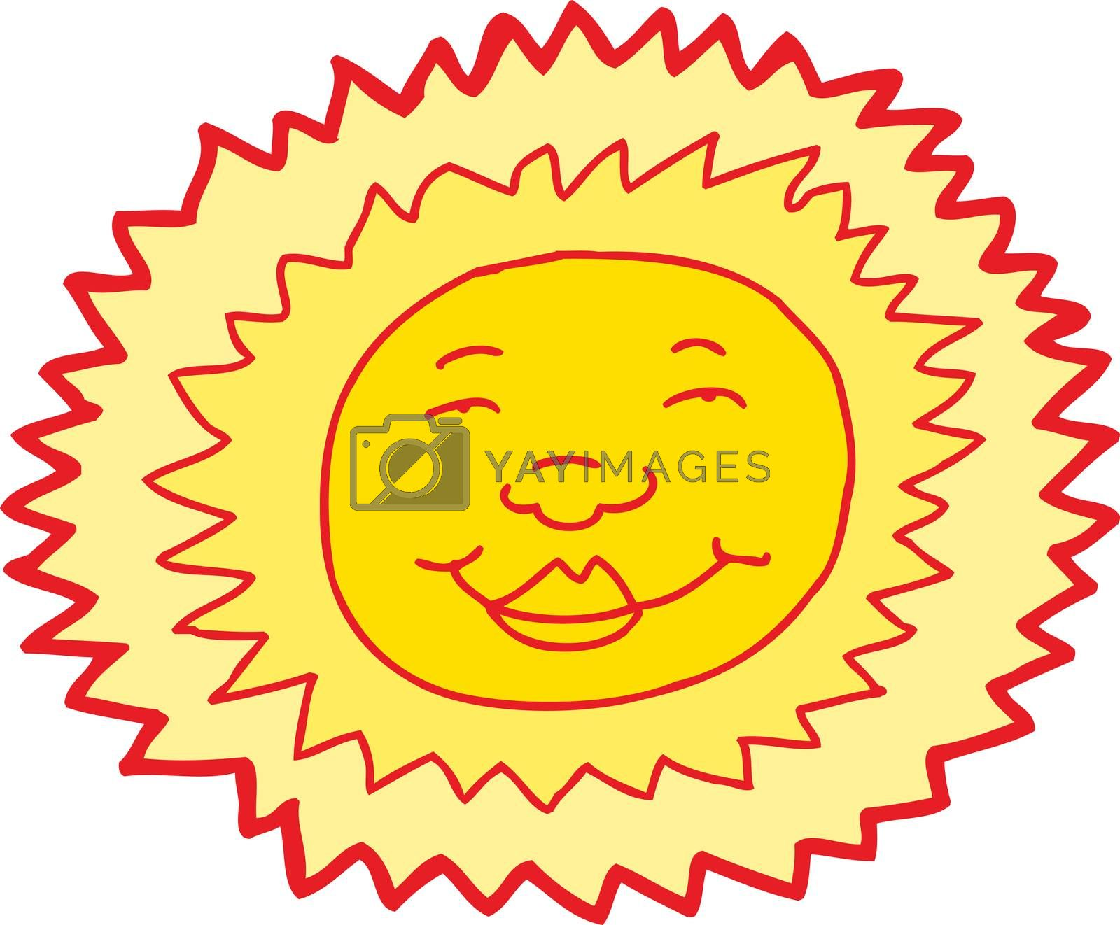 Royalty free image of Smiling Sun Avatar by TheBlackRhino