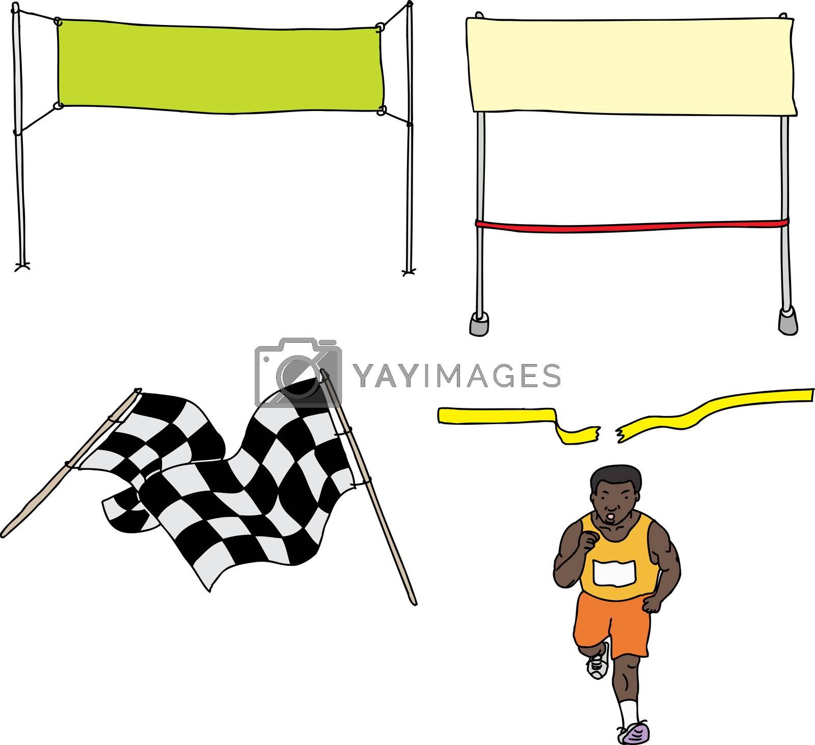 Royalty free image of Finish Line Cartoons by TheBlackRhino