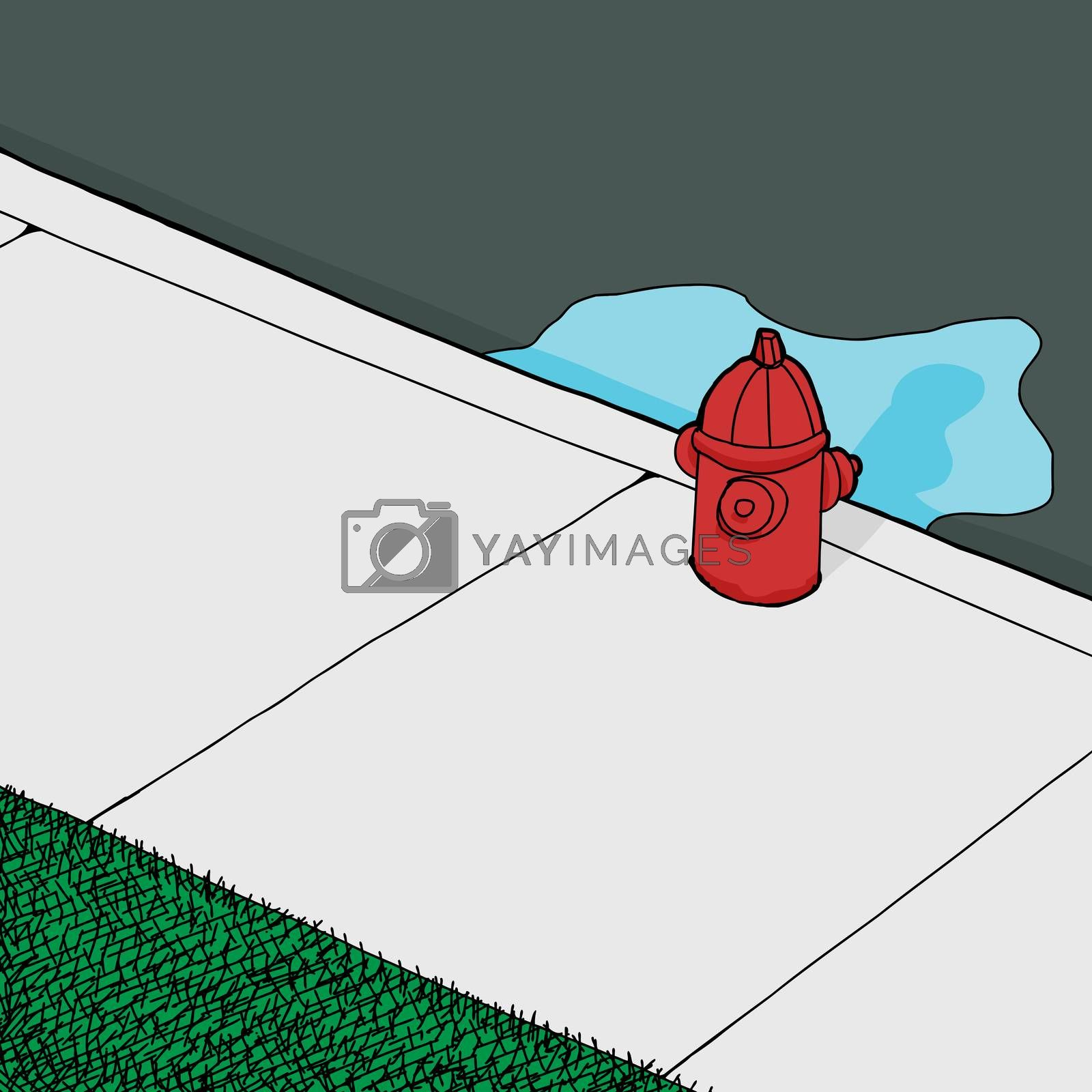 Royalty free image of Leaking FIre Hydrant by TheBlackRhino