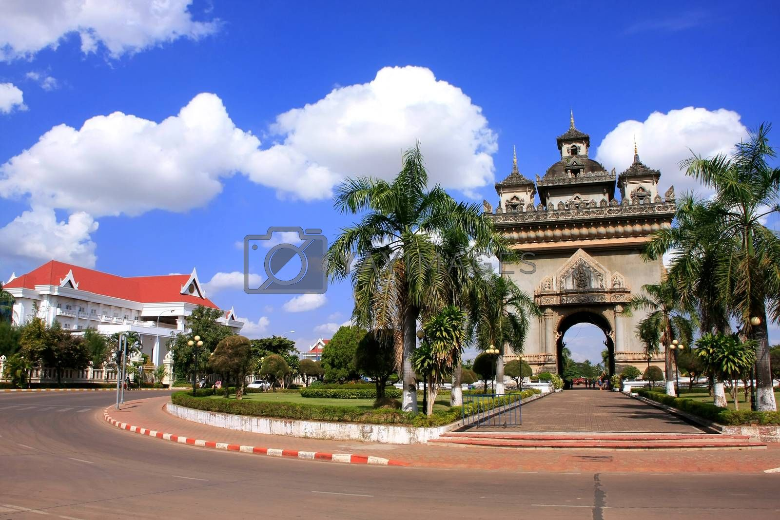 Royalty free image of Victory Gate Patuxai, Vientiane, Laos by donya_nedomam