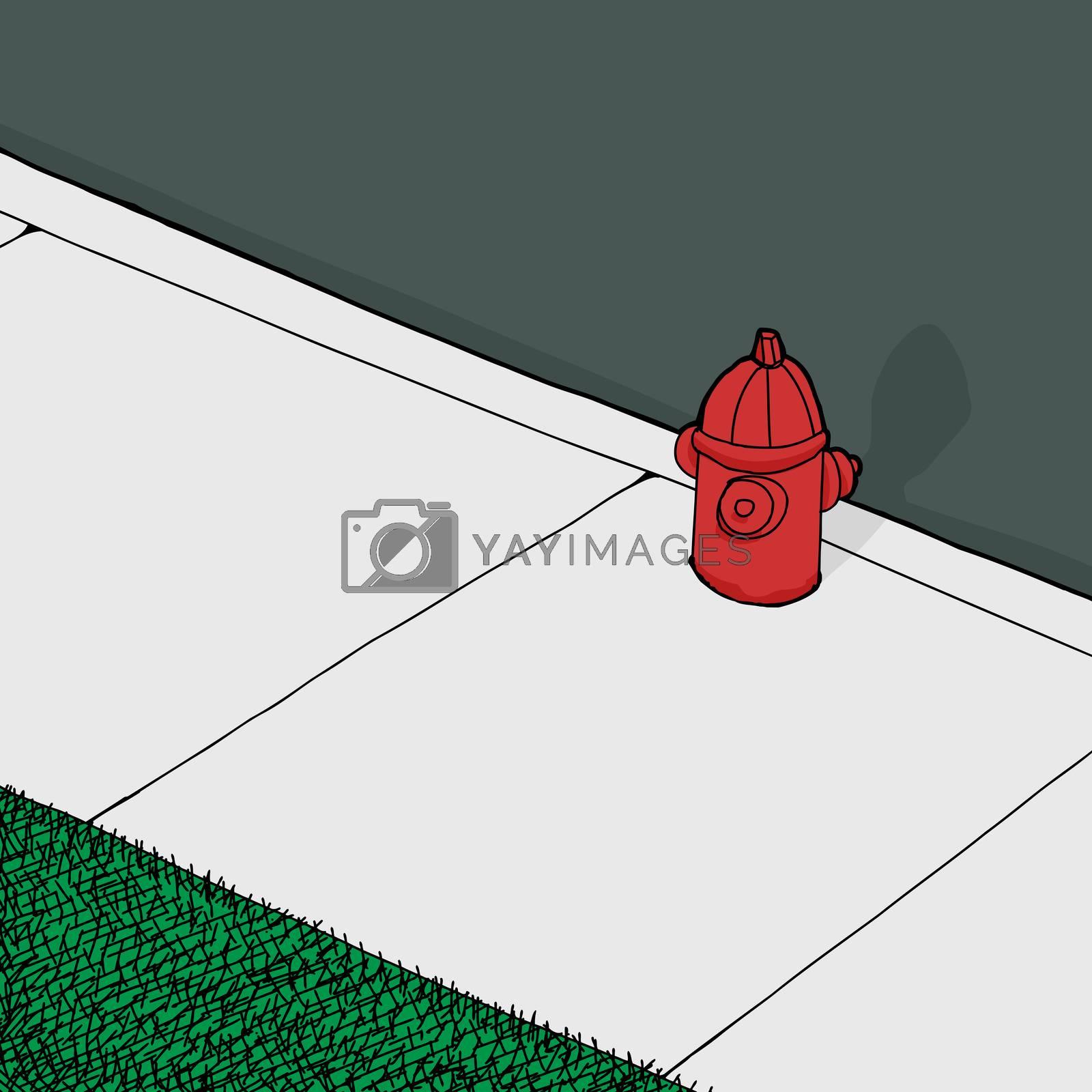 Royalty free image of Fire Plug on Sidewalk by TheBlackRhino