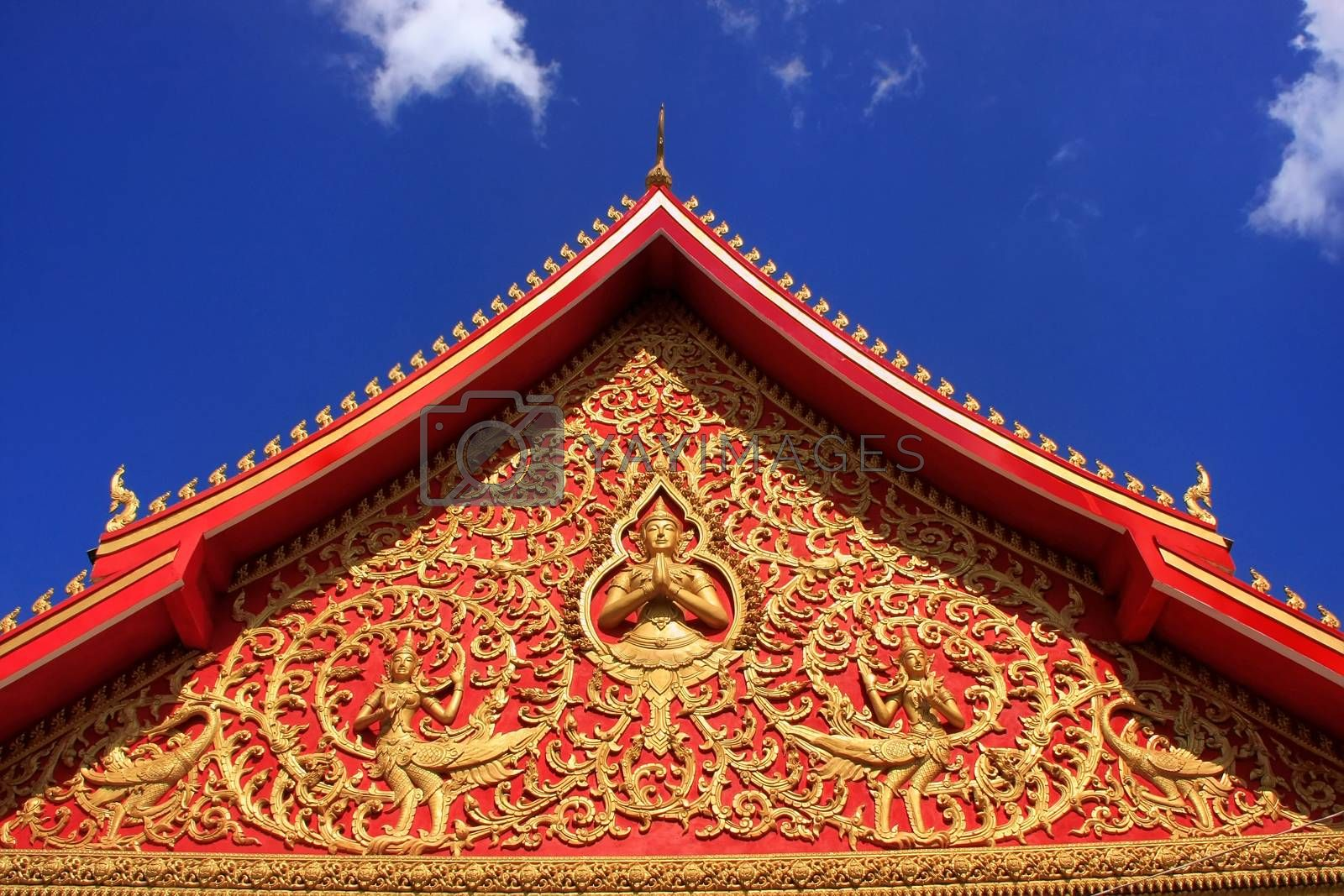 Royalty free image of Decoration of a roof, Wat Si Saket, Vientiane, Laos by donya_nedomam