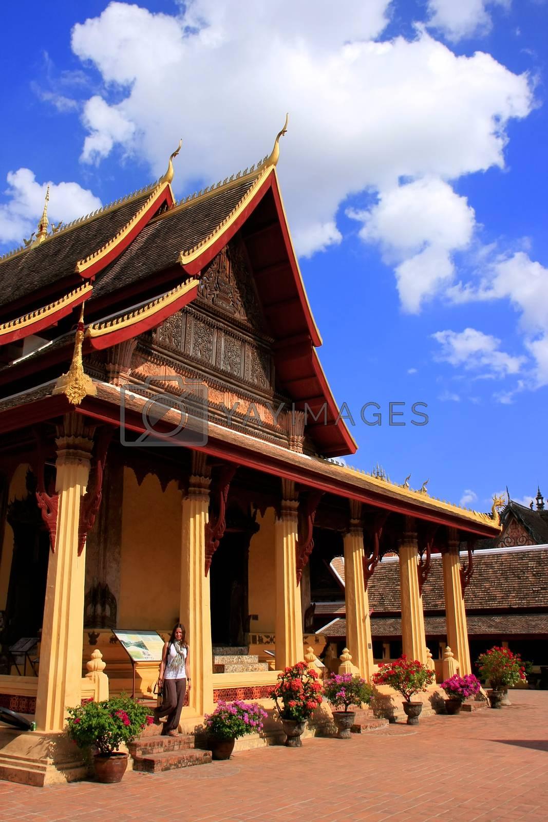Royalty free image of Wat Si Saket, Vientiane, Laos by donya_nedomam
