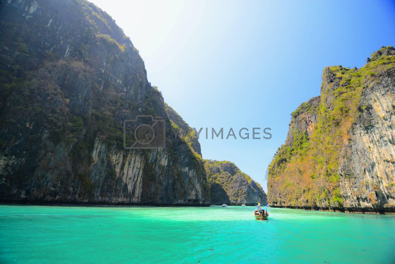 Royalty free image of Maya Bay by antpkr