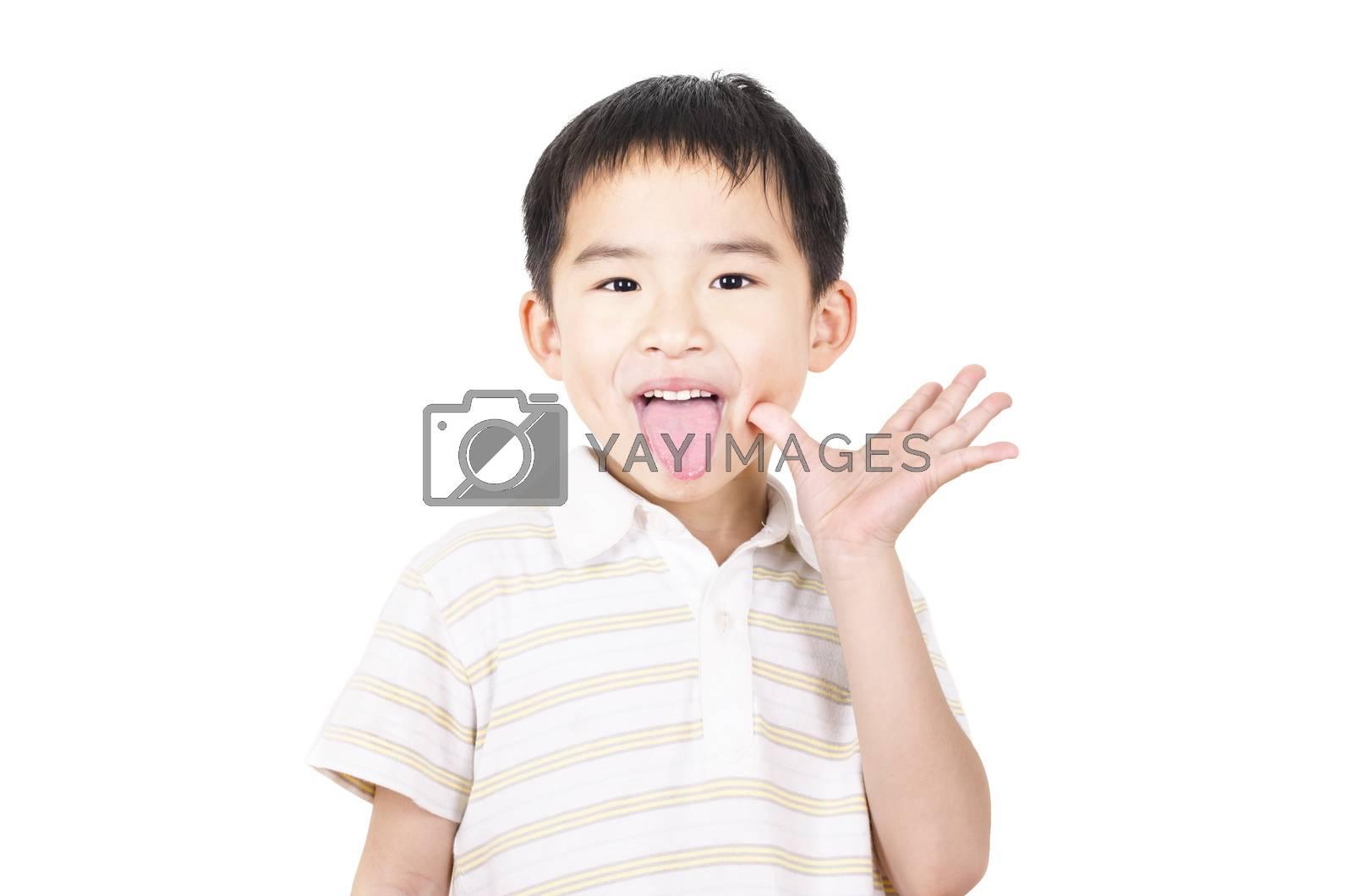 Royalty free image of Cute boy grimace by FrankyLiu