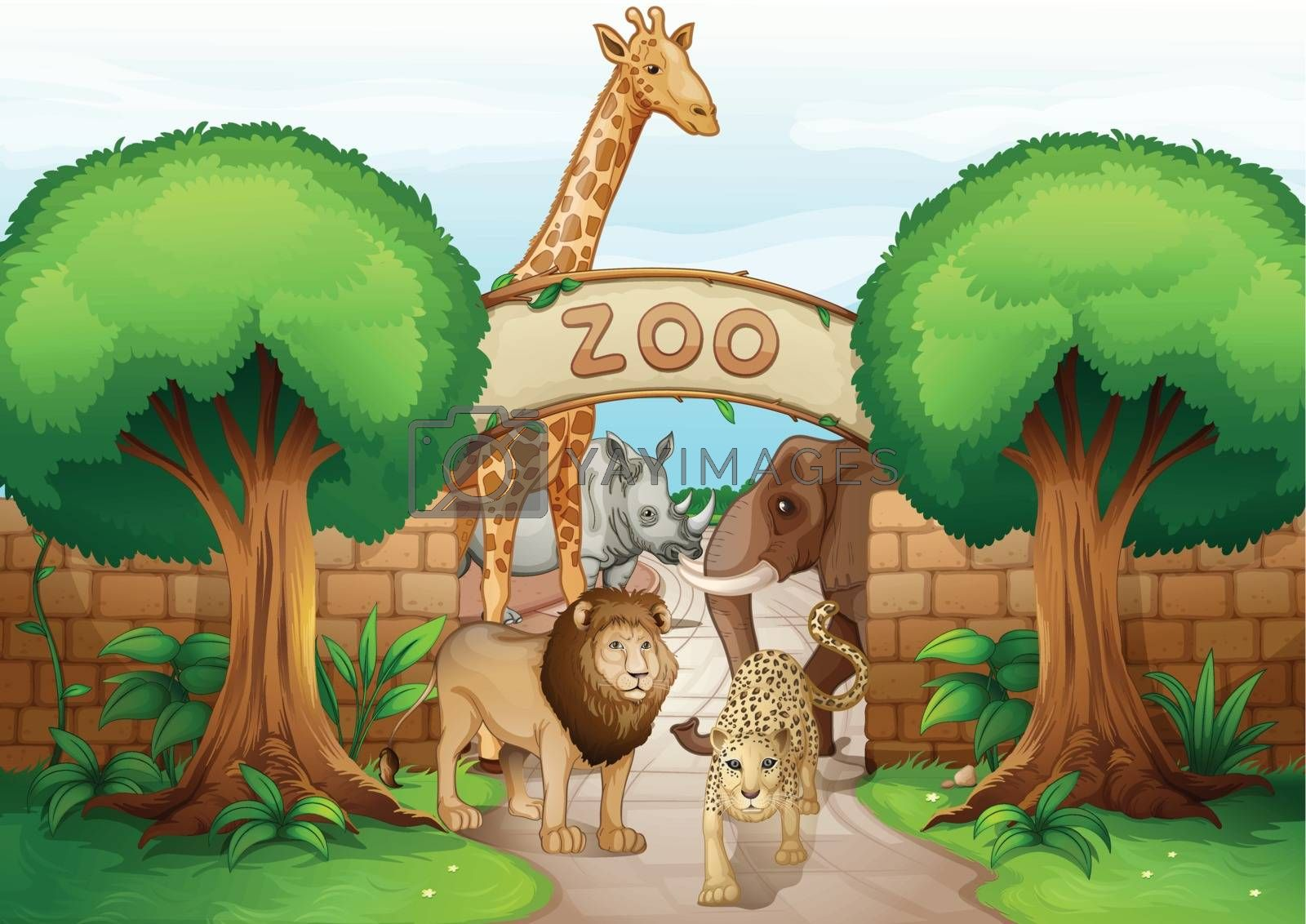 a zoo and the animals by iimages