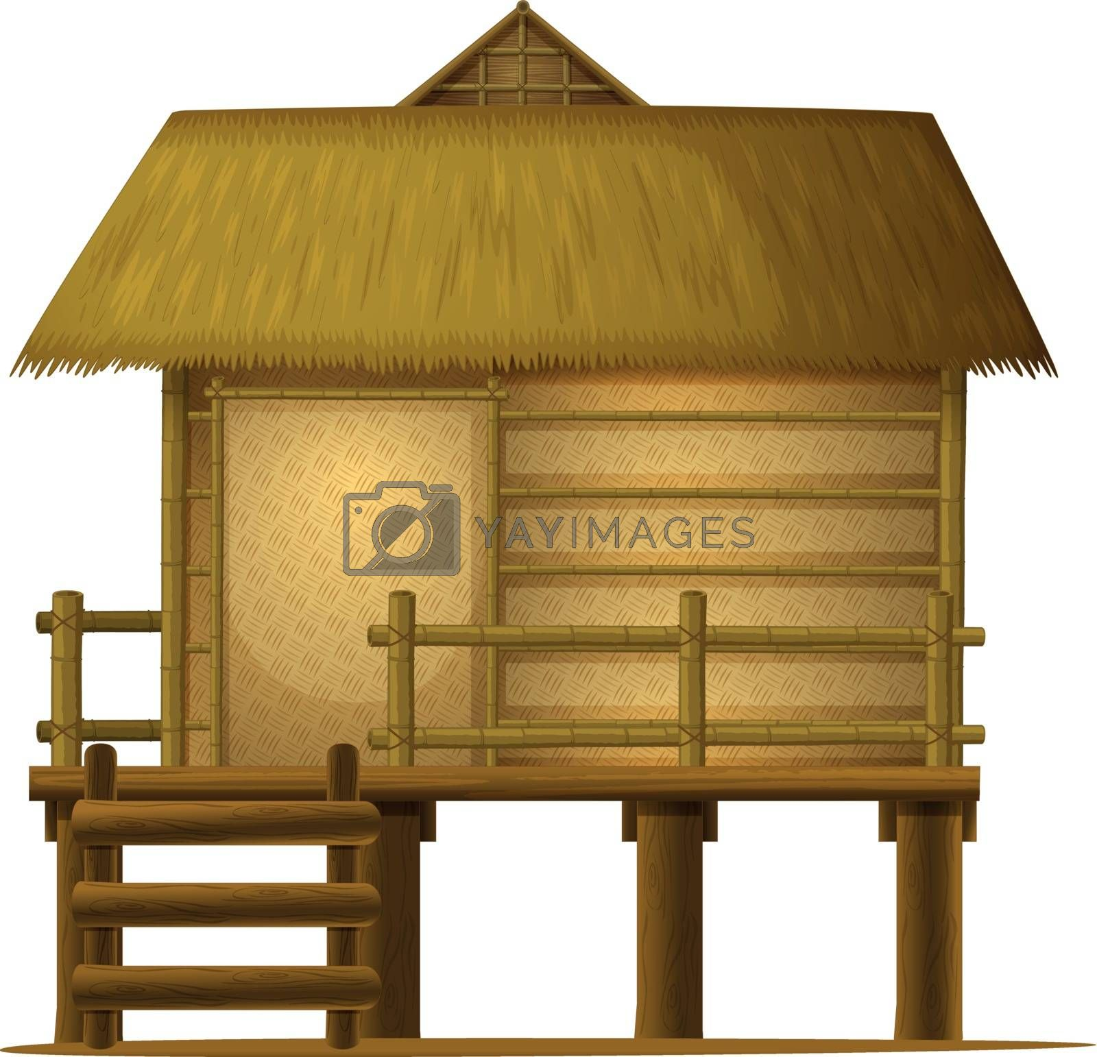 detailed illustration of a house on white background