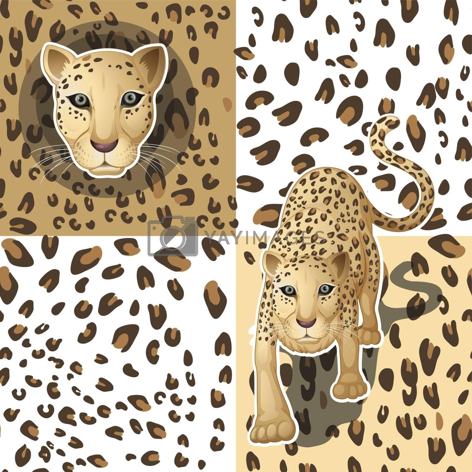 Illustration of a seamless pattern